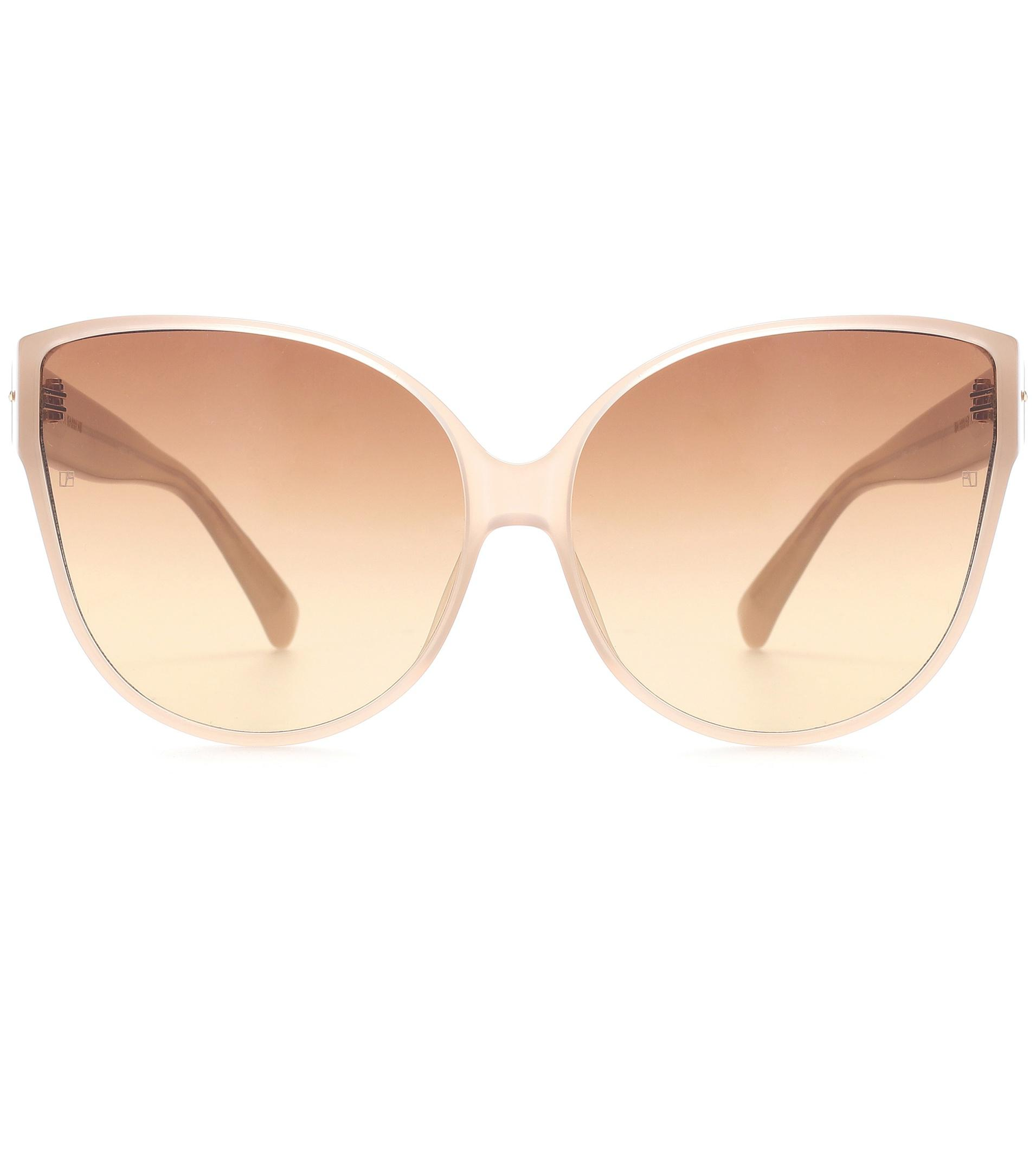 ba33b39813 Lyst - Linda Farrow Oversized Cat-eye Sunglasses in Brown