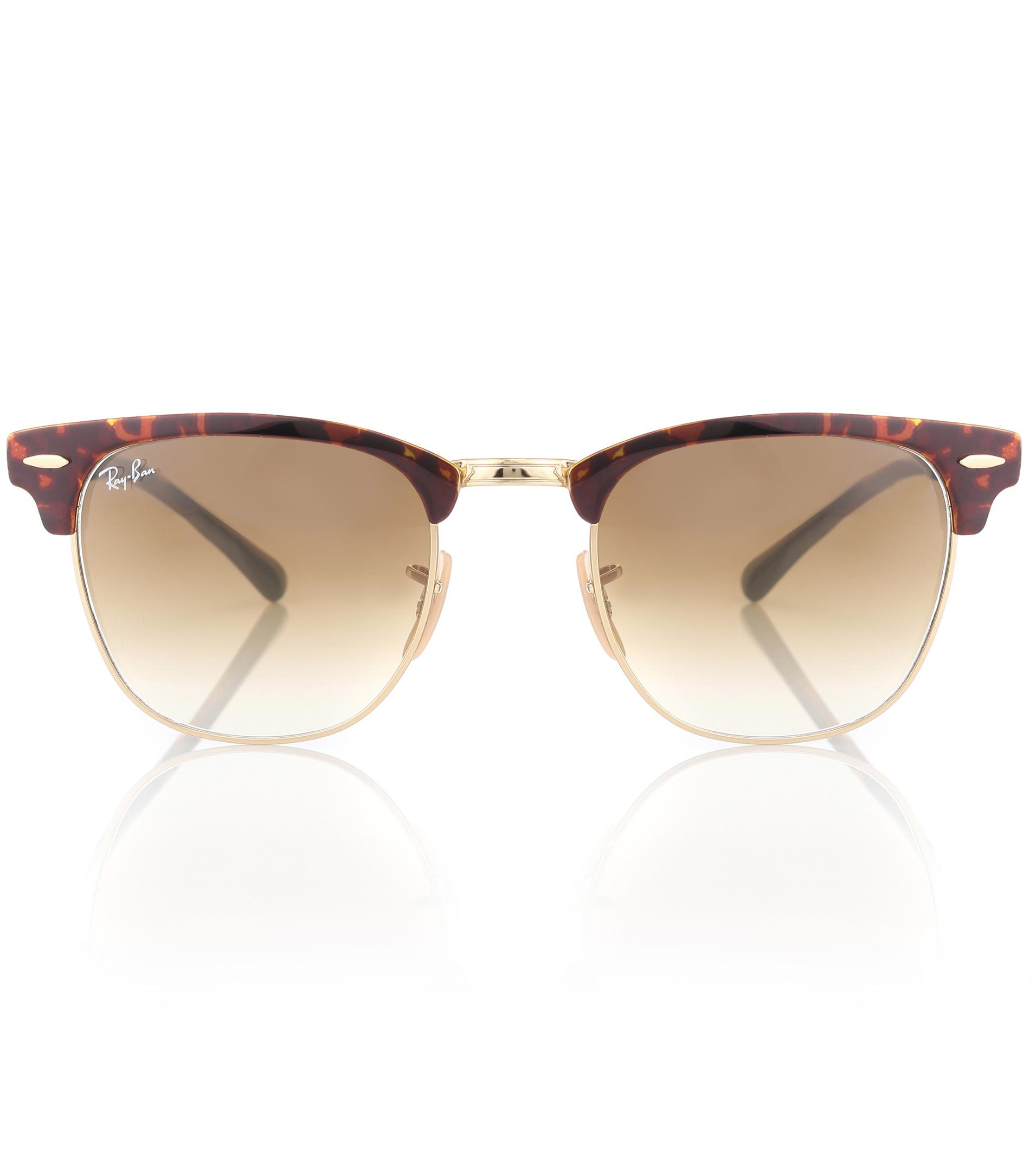 c57ed83ff84 Lyst - Ray-Ban Rb3716 Clubmaster Sunglasses in Brown