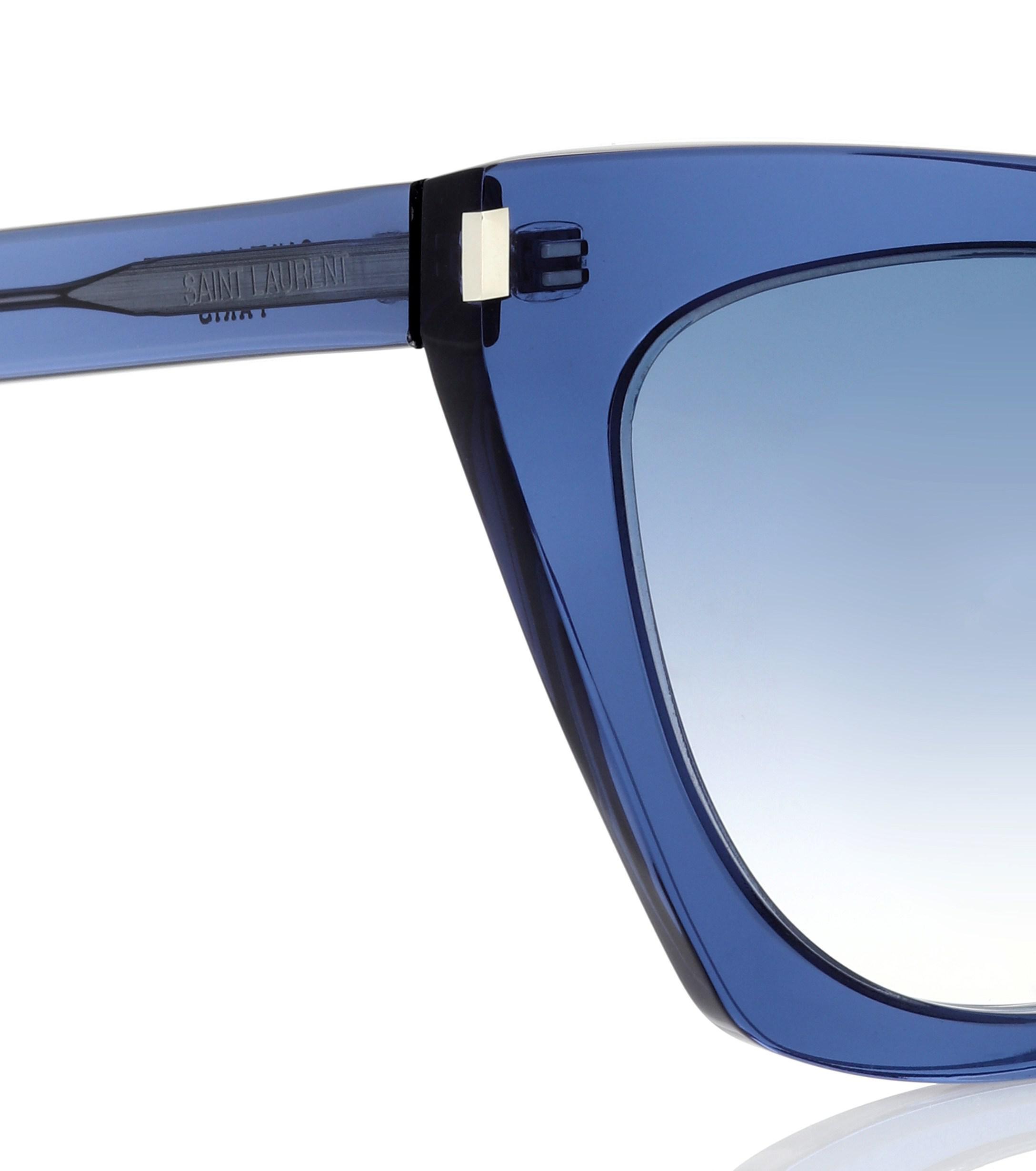 7b40ade316 Saint Laurent - Blue Kate Cat-eye Sunglasses - Lyst. View fullscreen