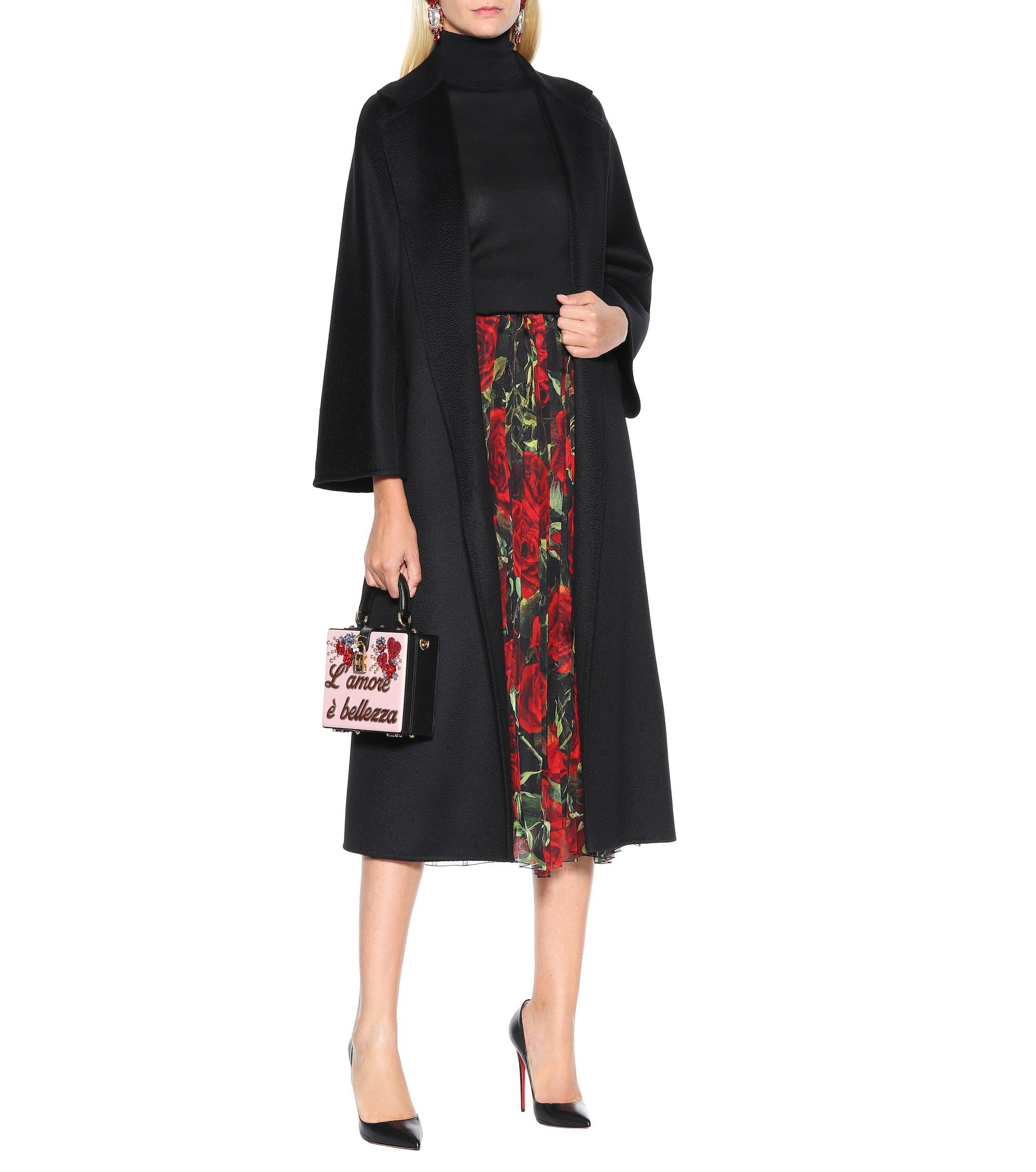 Falda de mezcla de seda floral Dolce & Gabbana de Tejido sintético