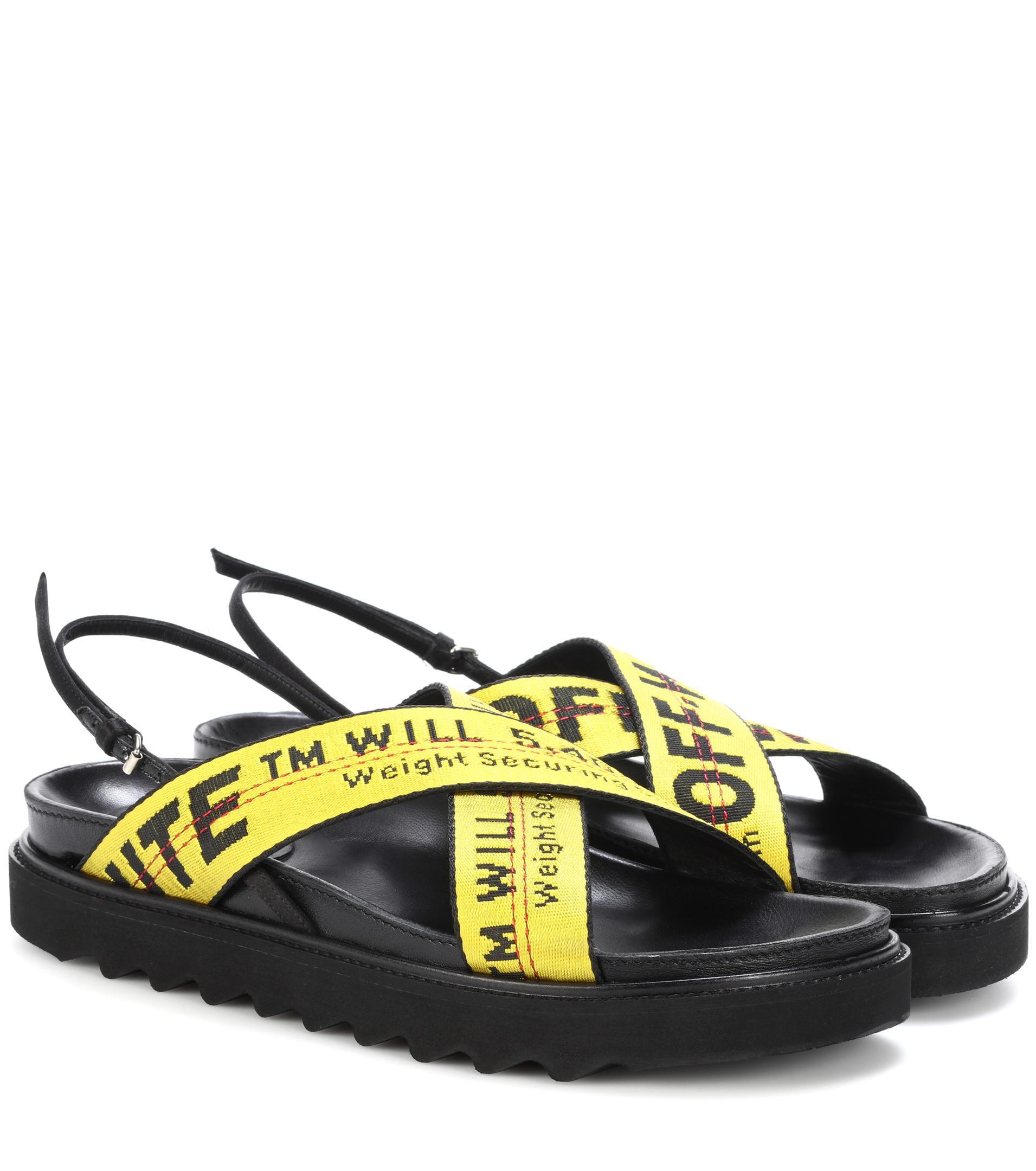 o Virgil Abloh Industrial Belt Sandals