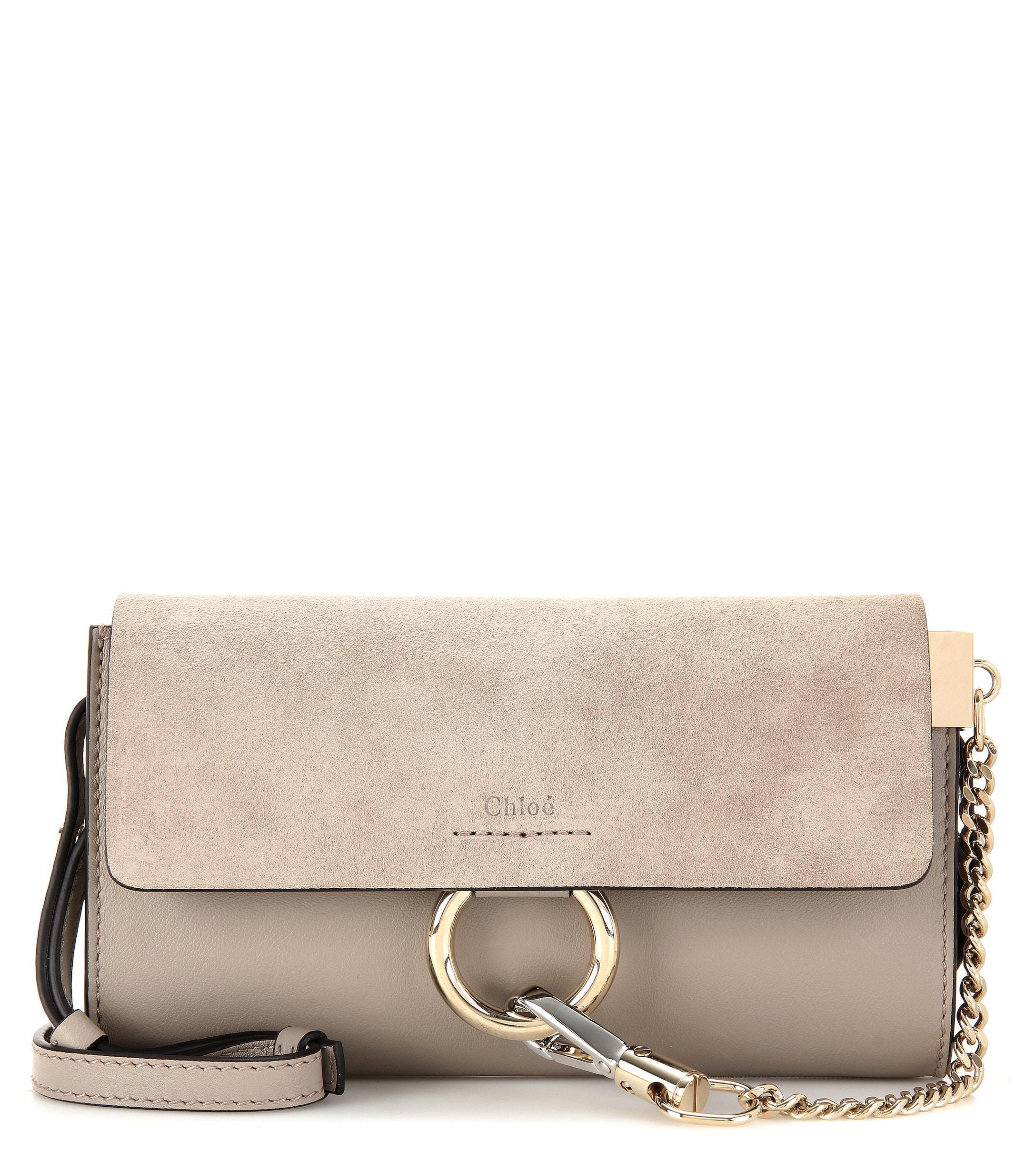 b0fc6e9acaf4 Chloé - Gray Faye Mini Leather Wallet Bag - Lyst. View fullscreen