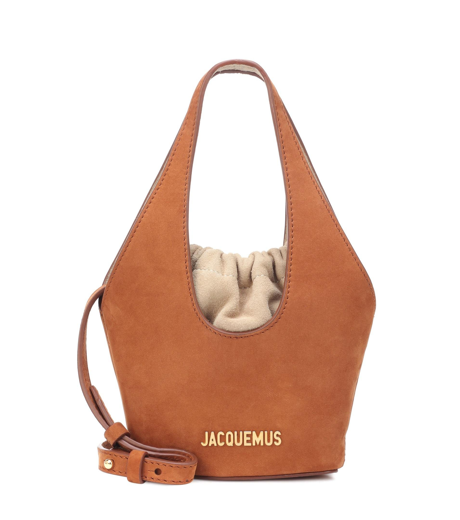 9d54a643db1c Jacquemus Le Cariño Suede Bucket Bag in Brown - Lyst