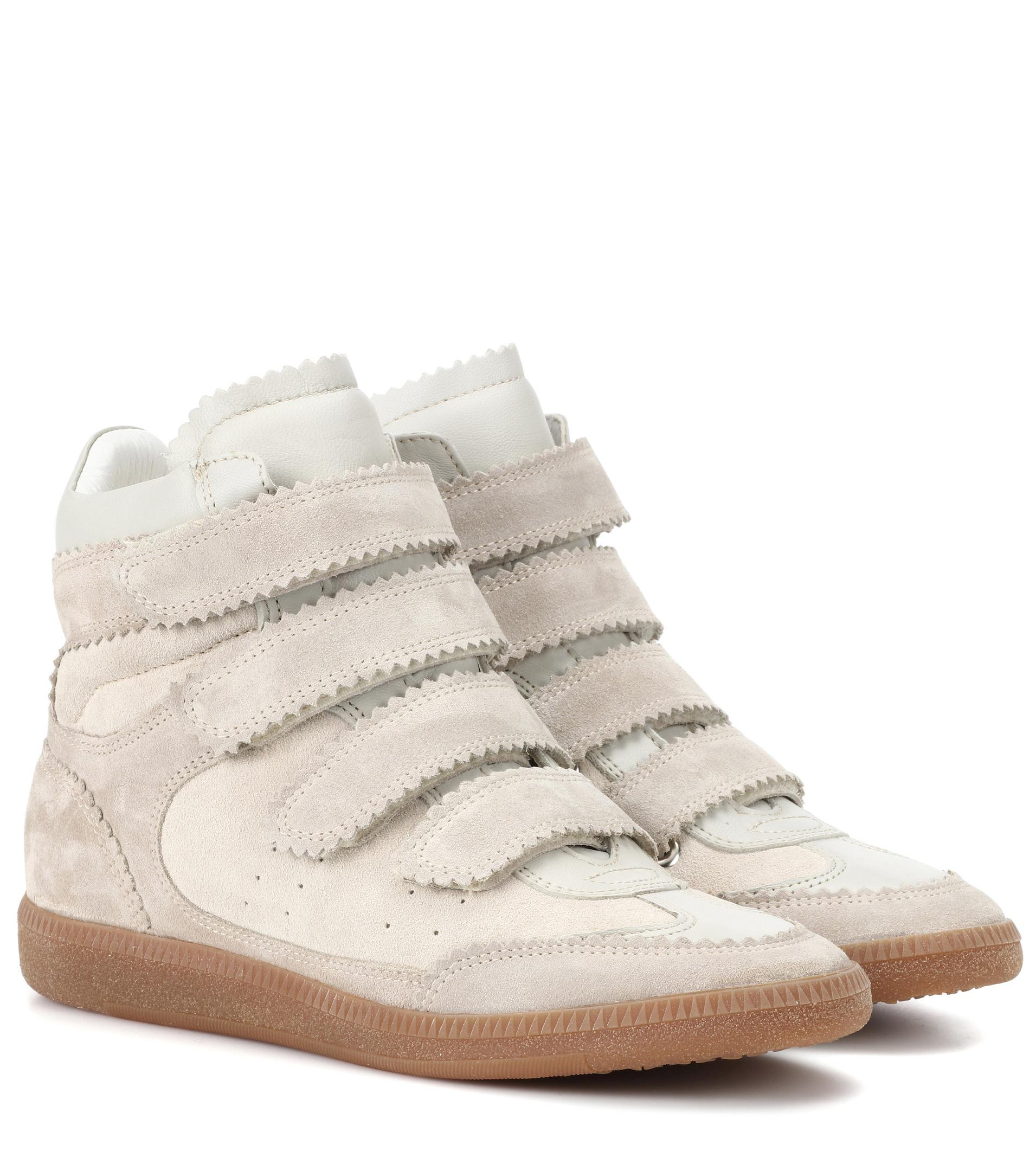 Isabel Marant Bilsy suede high-top sneakers big sale sale online geniue stockist online for sale wholesale price 8AZIy