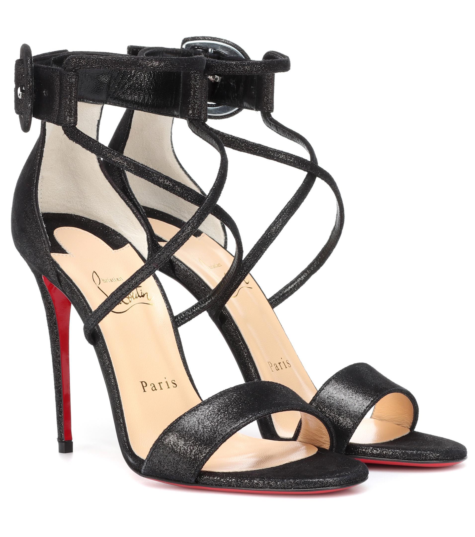 separation shoes 7c96c 88f67 Women's Black Choca 100 Suede Lamé Sandals