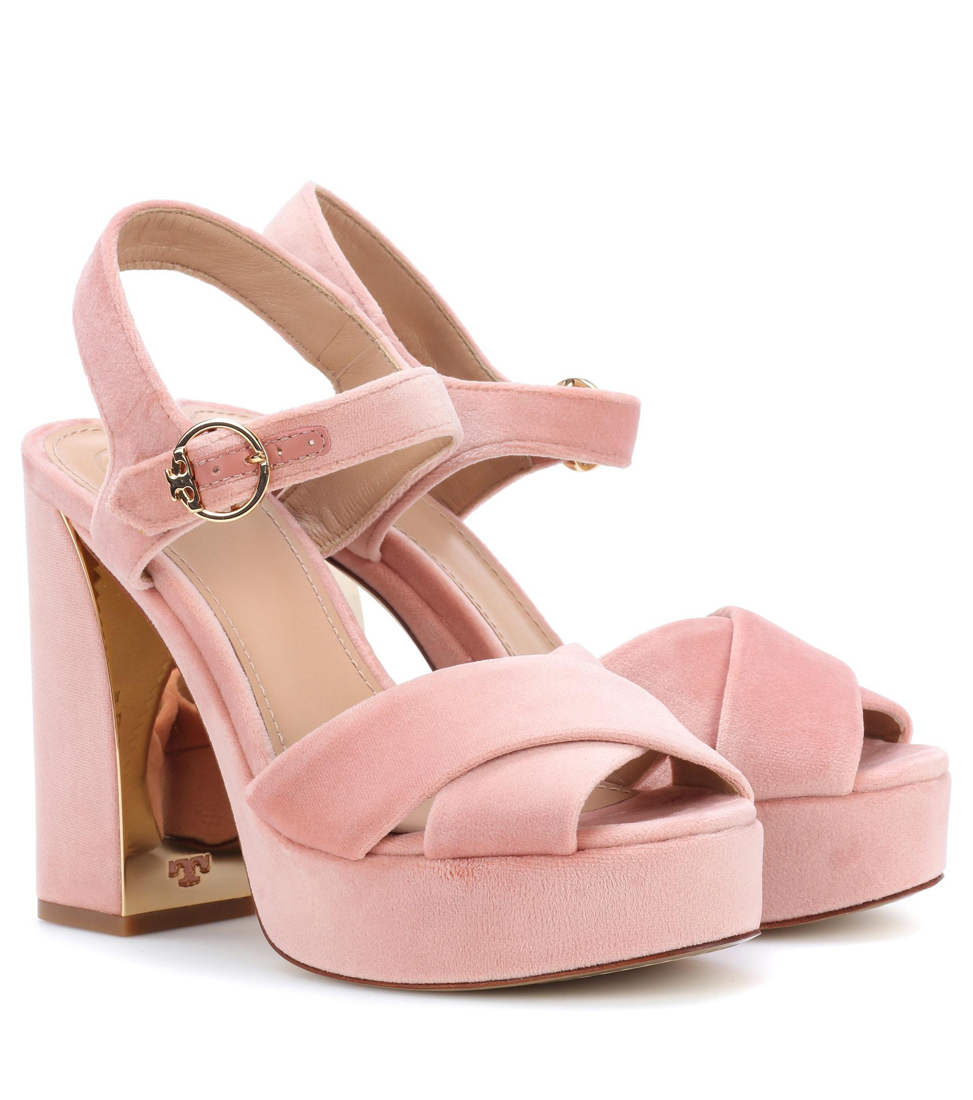 Cheap Get To Buy Loretta platform sandals - Pink & Purple Tory Burch Cheap Discount Sale Pay With Paypal Sale Online Cheap Sale Lowest Price lyKJm