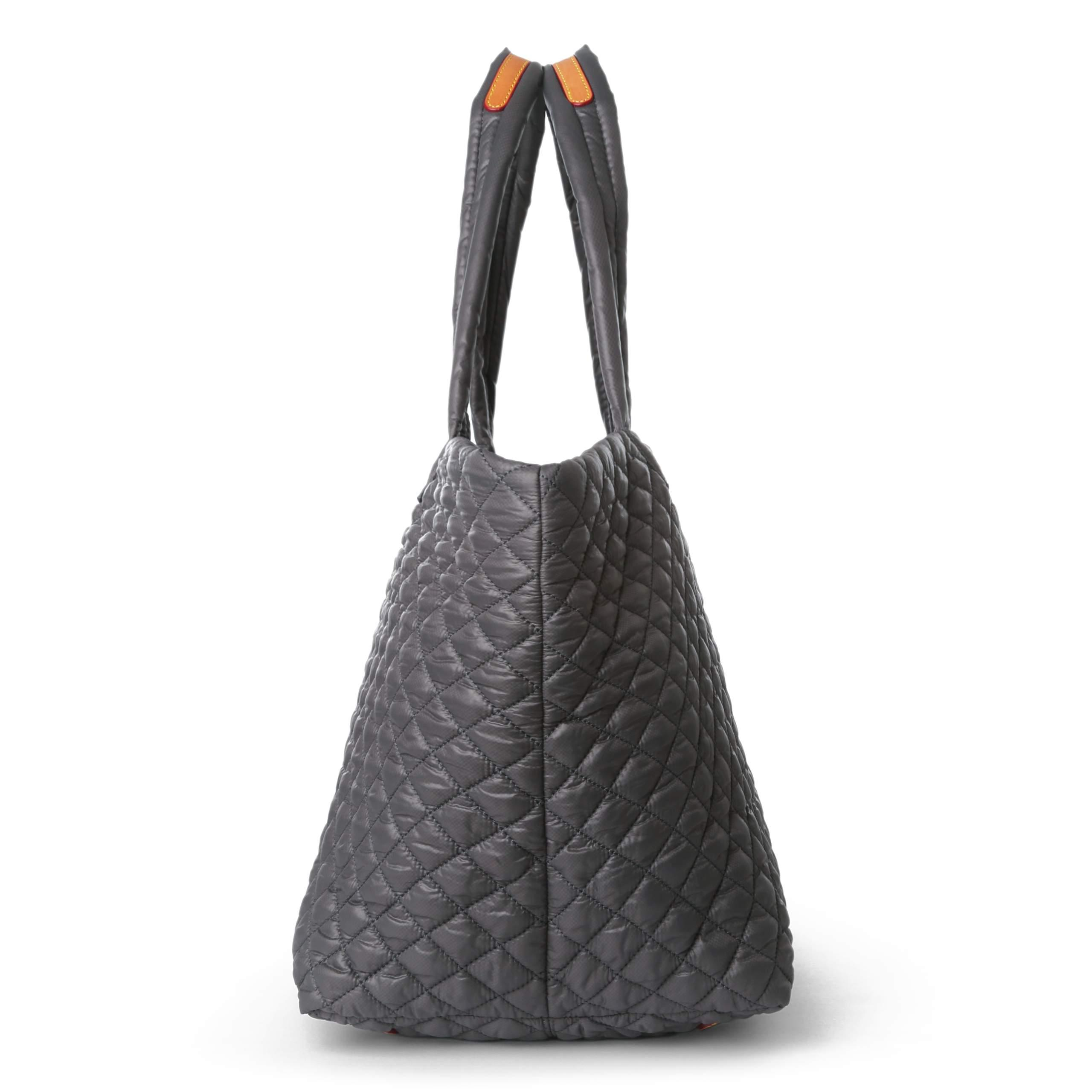 MZ Wallace Synthetic Quilted Medium Metro Tote in Grey