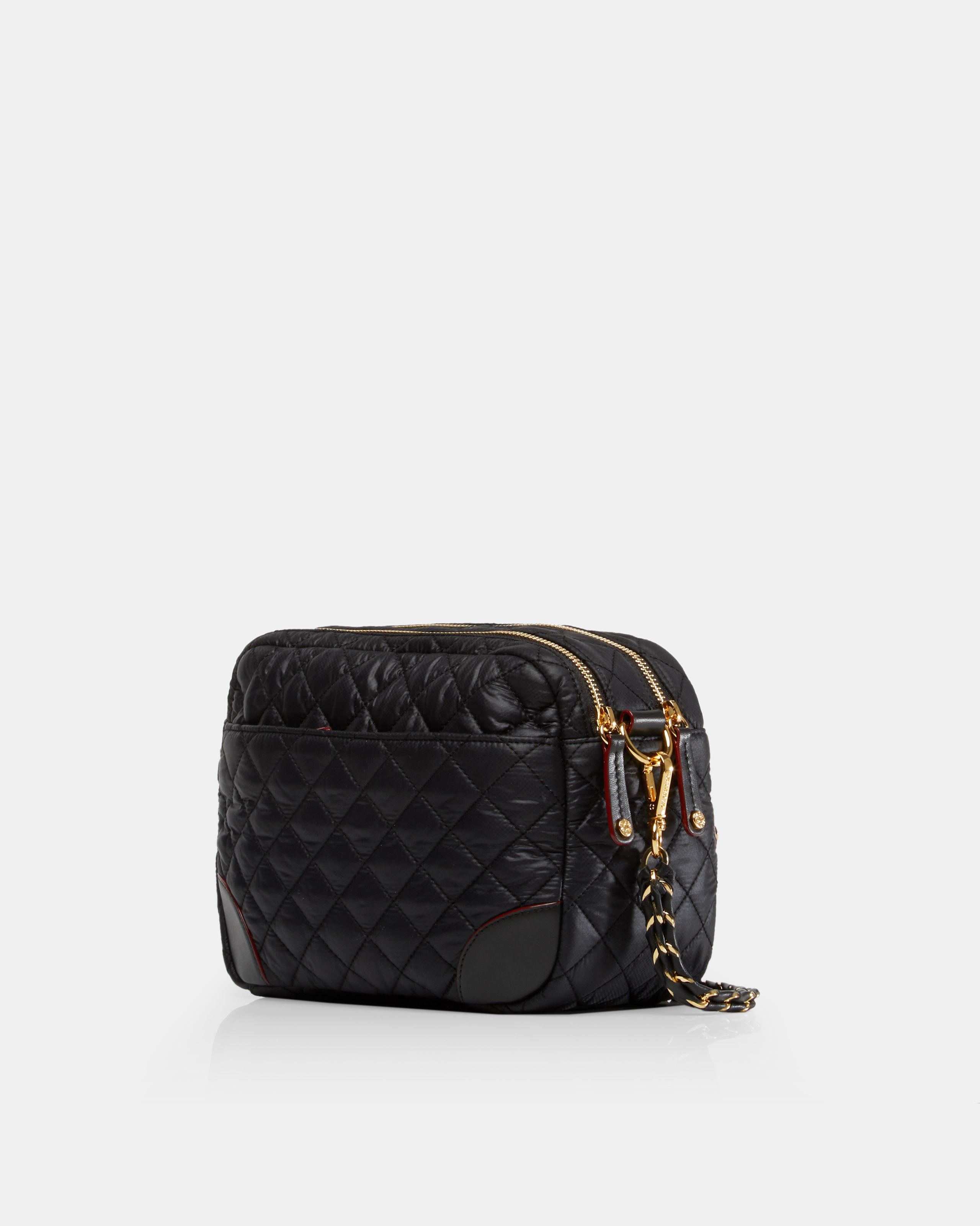 MZ Wallace Synthetic Quilted Black Small Crosby