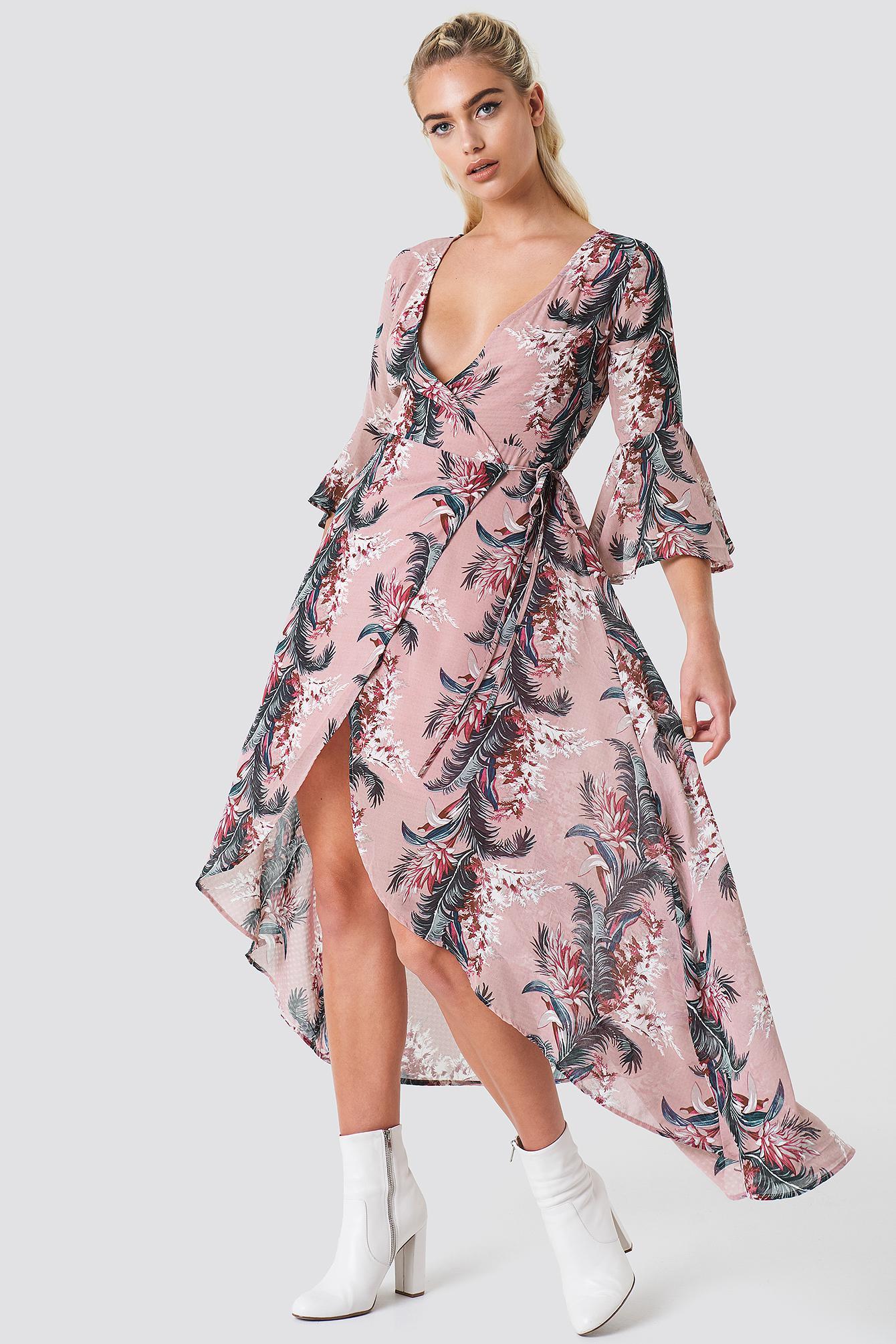 Glamorous Wrap Maxi Print Dress - 5mCnLcc