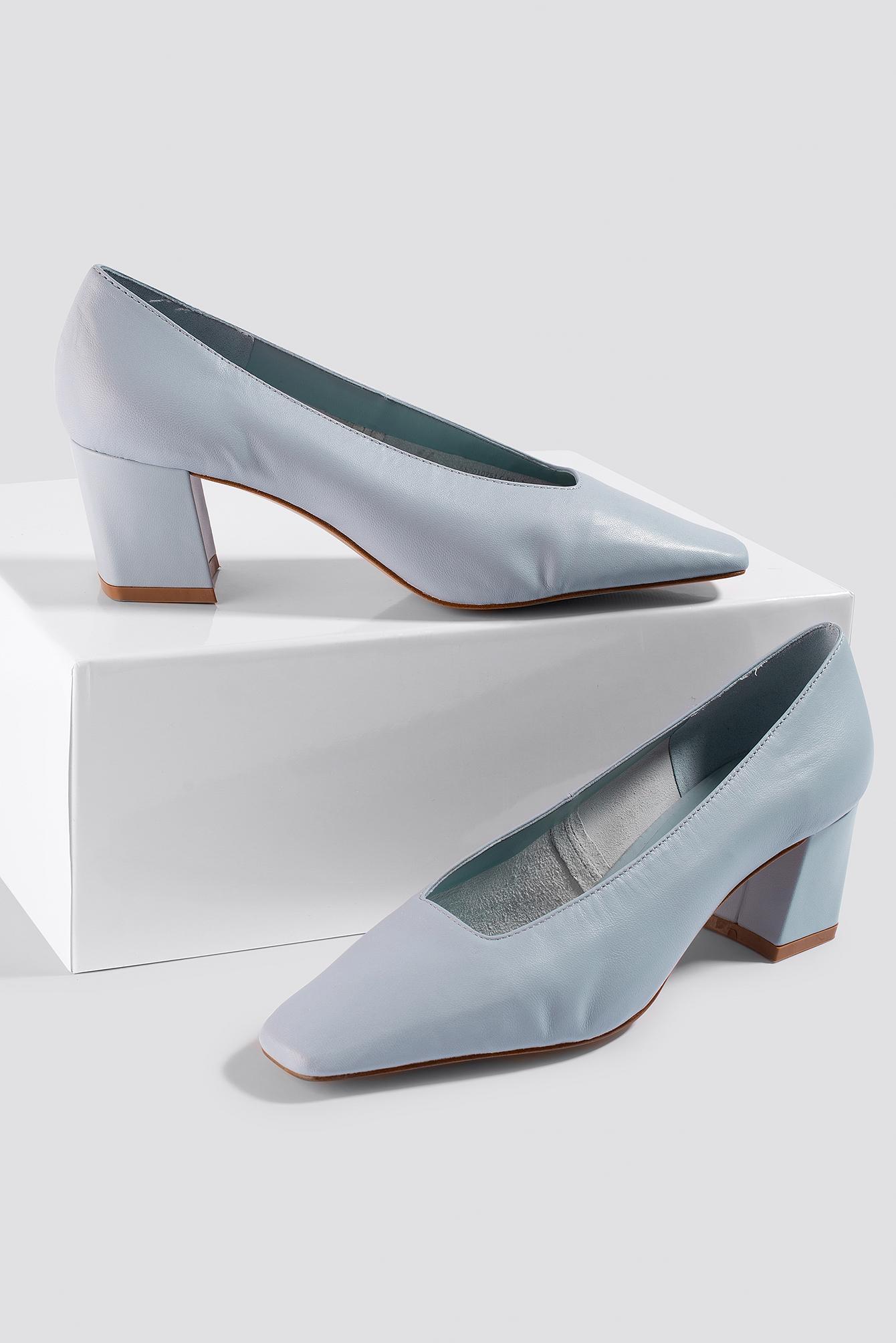 Mela Shoes Cuir Mango en coloris Bleu