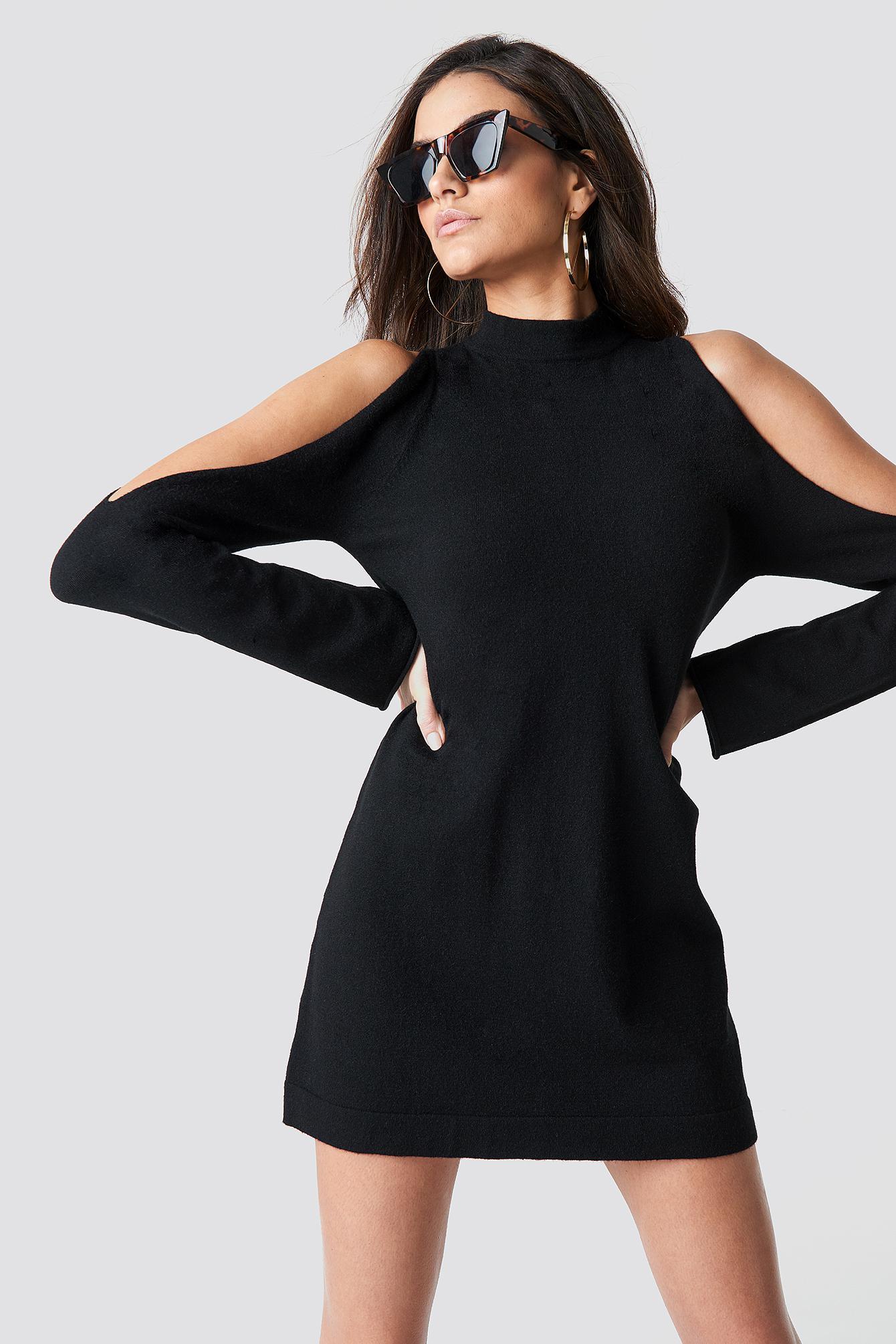 Na In Dress Knitted Kd Open Lyst Black Sleeve XZTPOkui