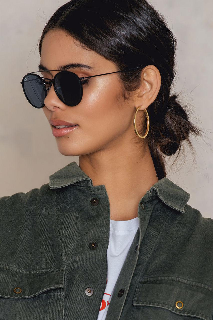 Lyst Ray Ban Round Double Bridge In Blue