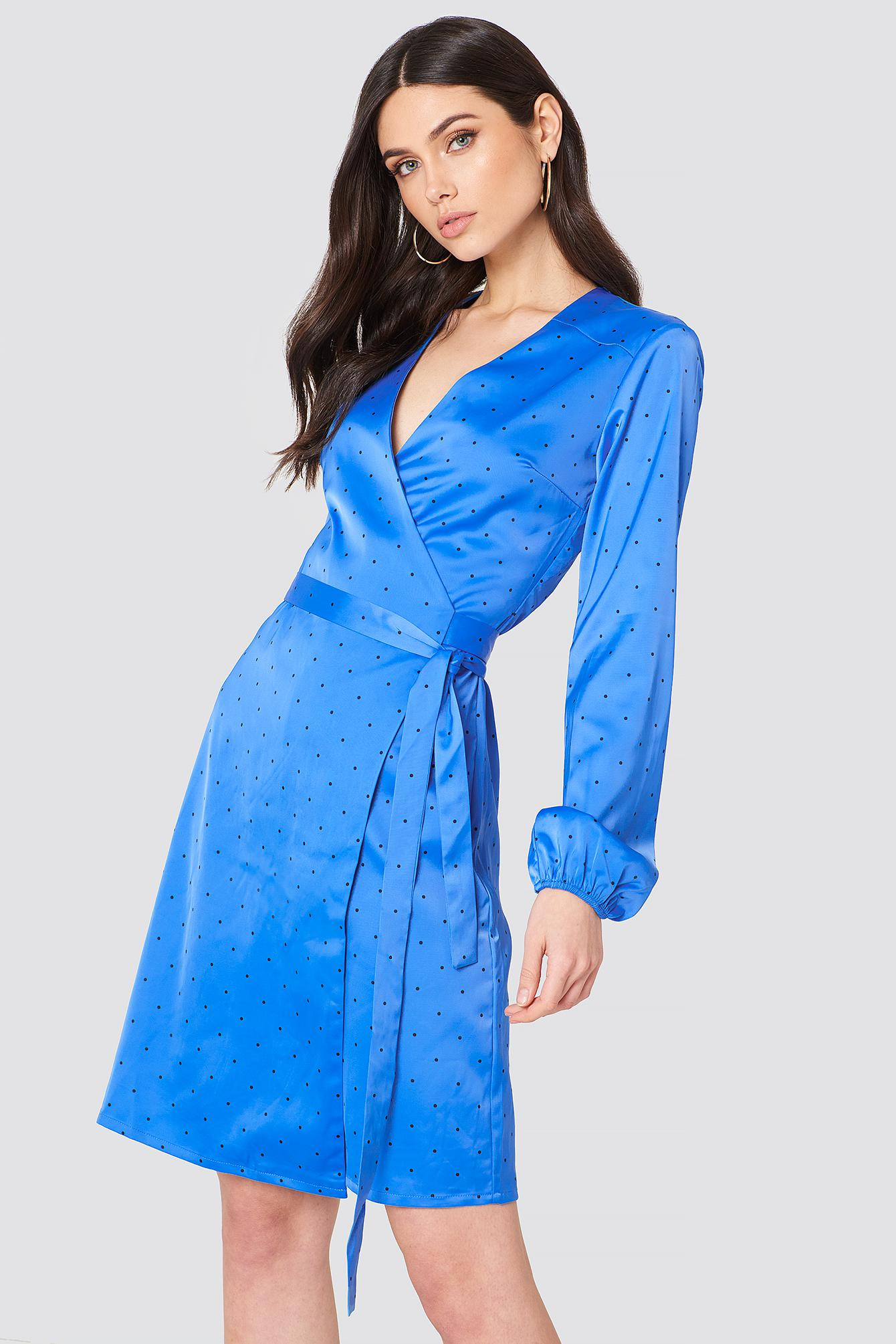 Footlocker Finishline Cheap Price Ebay Online Polka Dot Wrap Dress - Granada sky Gestuz ovHYrCS9
