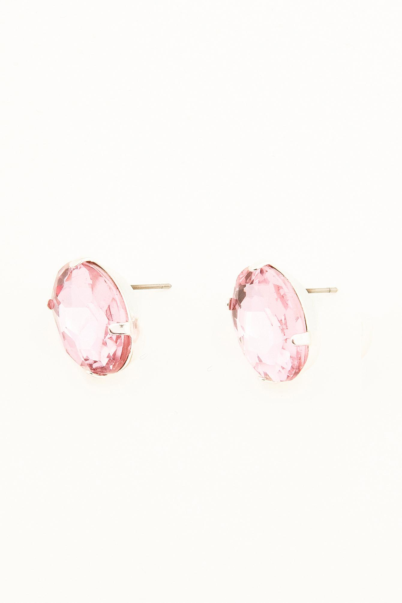 NA-KD Colored Diamond Earrring Light Pink