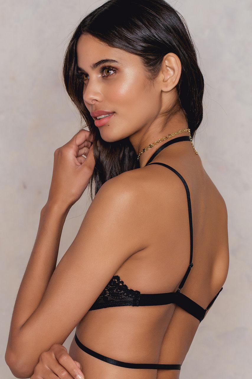 NA-KD Front Clasp Lace Bra in Black - Lyst