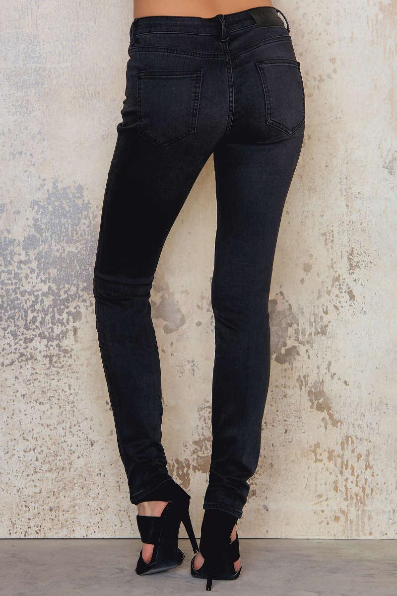 BLK DNM Denim Jeans 22 Grace Black Long