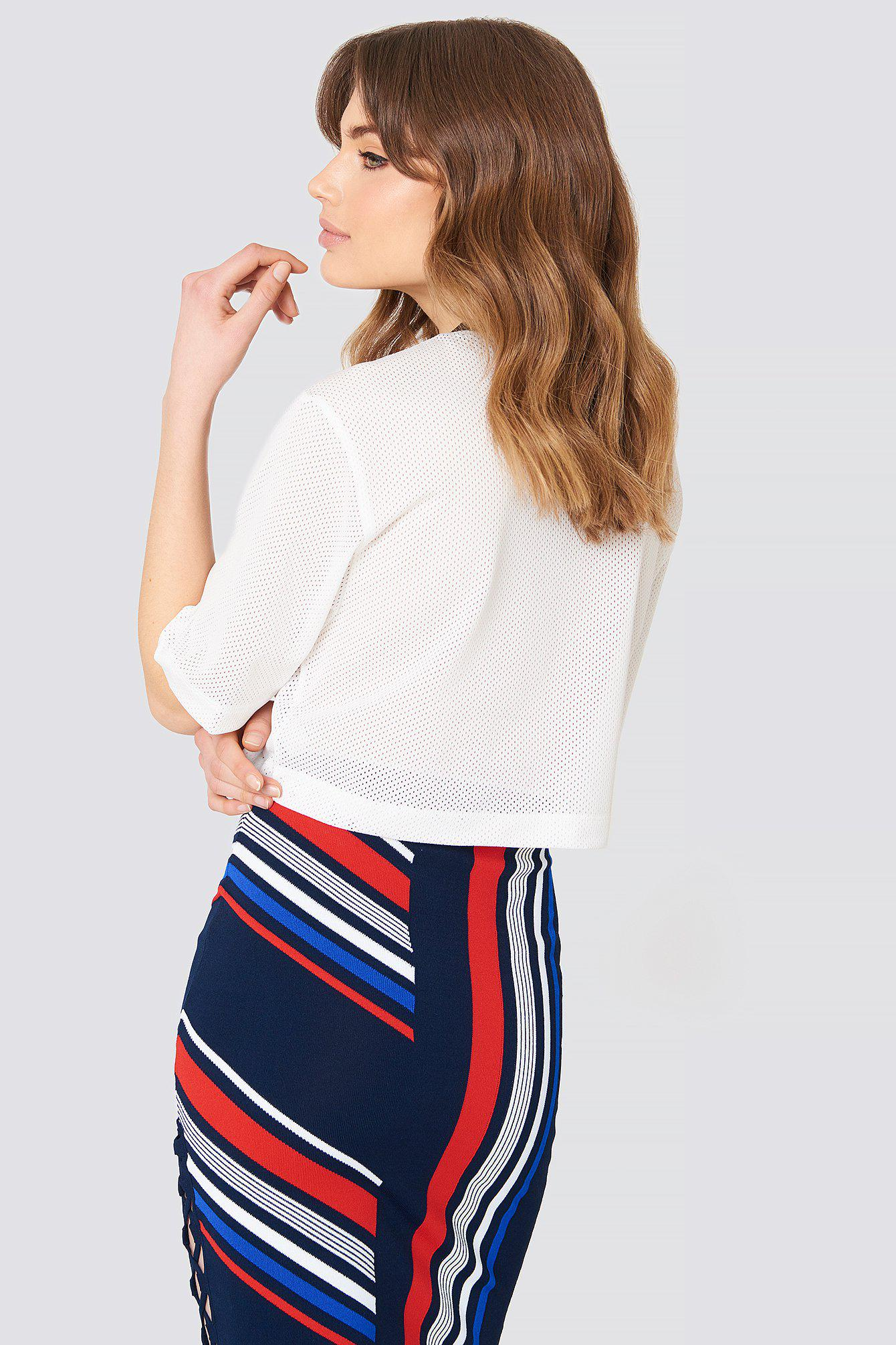 0c295ea2 Tommy Hilfiger Gigi Hadid Racing Ss Top Mesh in White - Lyst