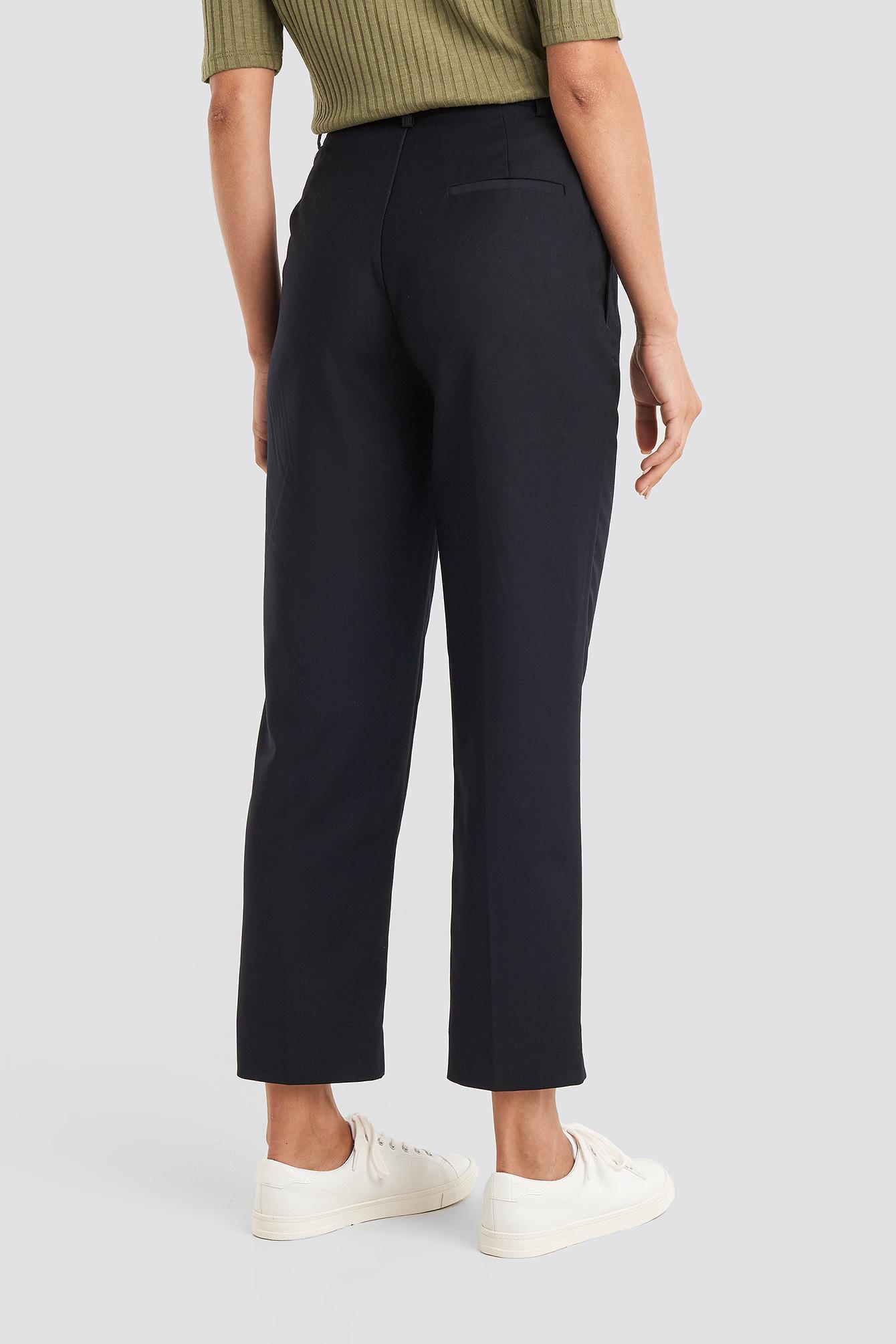Ankle Suit Pants Synthétique NA-KD en coloris Noir