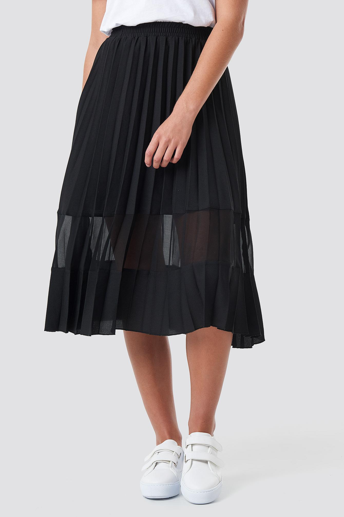 Co-ord Pleated Panel Midi Skirt Synthétique NA-KD en coloris Noir