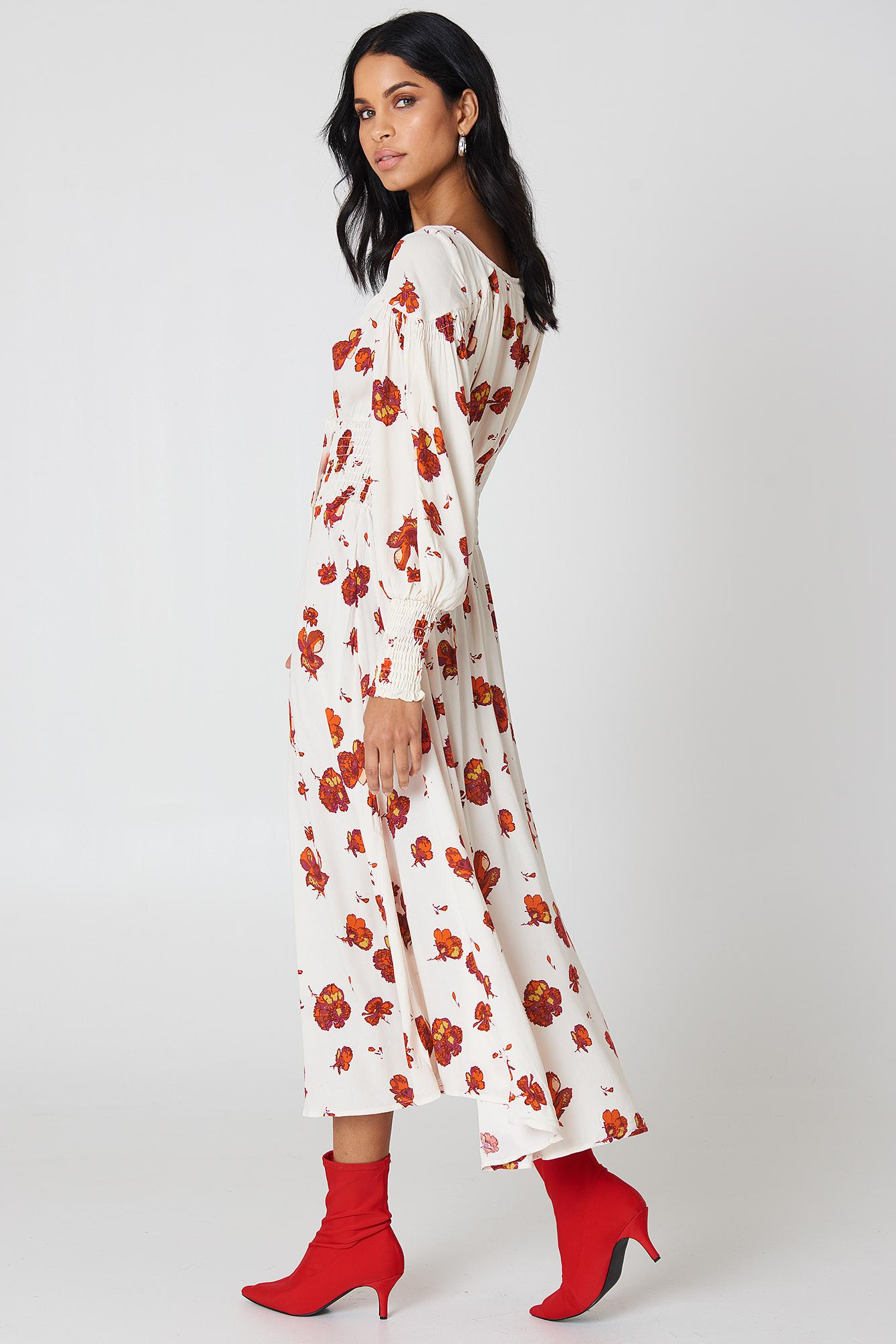Cheap Sale Nicekicks So Sweetly Mutton Sleeve Midi Dress - Ivory Free People Low Shipping Fee Sale Online Wholesale Online Ik48ACon