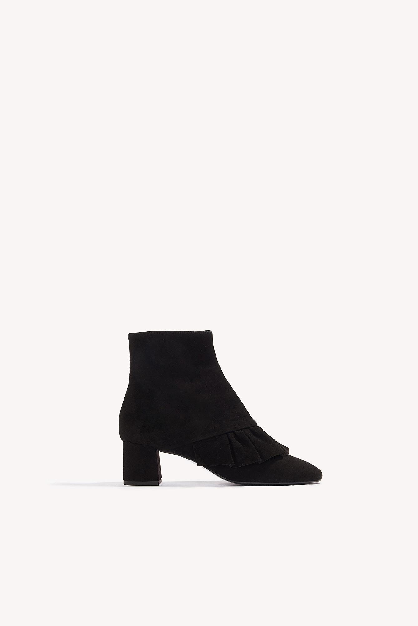 Henry Kole Micha Suede Boots in Black
