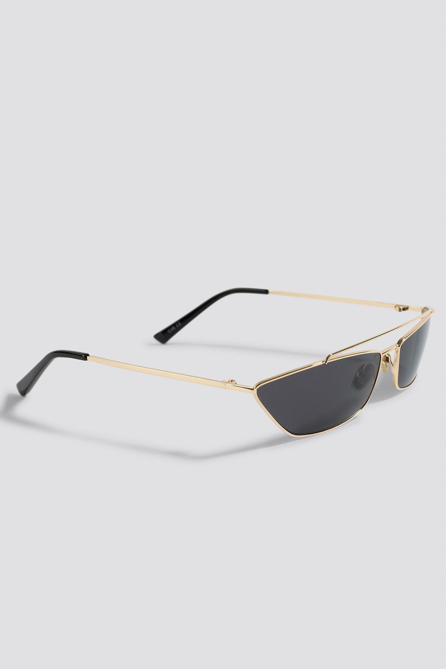 48387192492 Na trapezoid metal bridge sunglasses black in black lyst jpg 1430x2143 Trapezoid  sunglasses