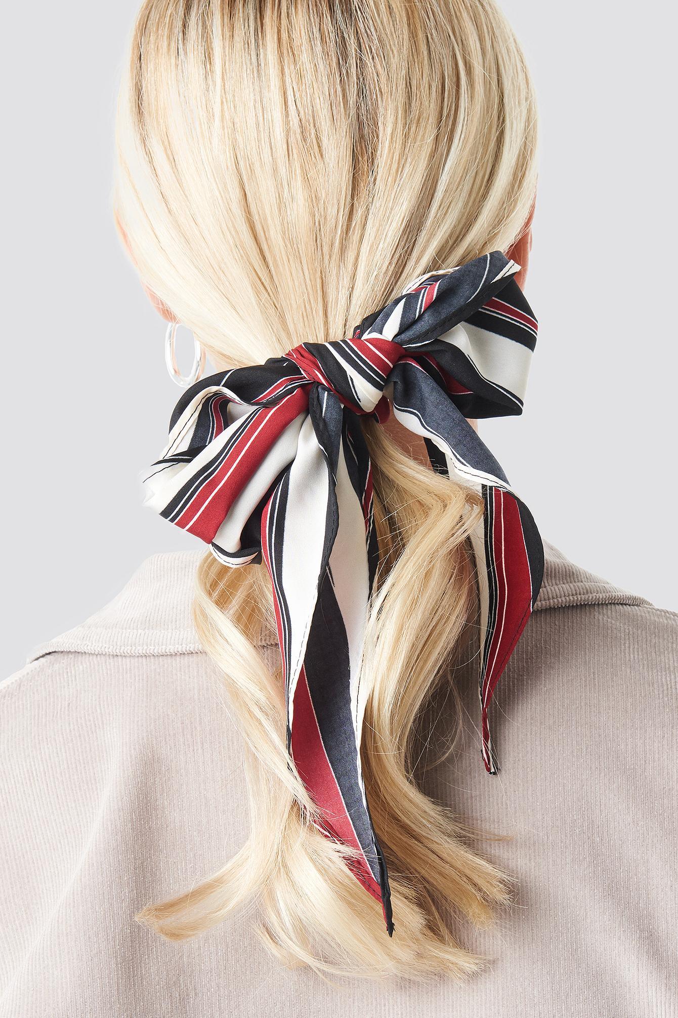 NA-KD Big Stripes Hair Scarf White in Blue - Lyst