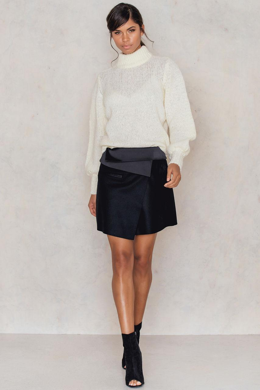 filippa k wrap pleat skirt