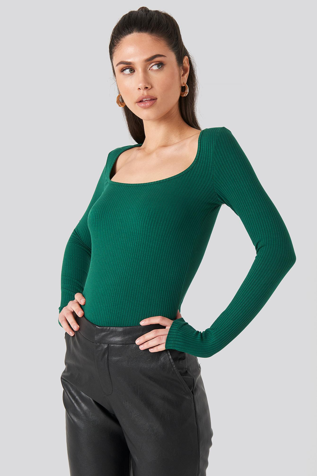 Banned Apparel Tropical Green Fine Knit Viscose Long Sleeved Cropped Bolero Top