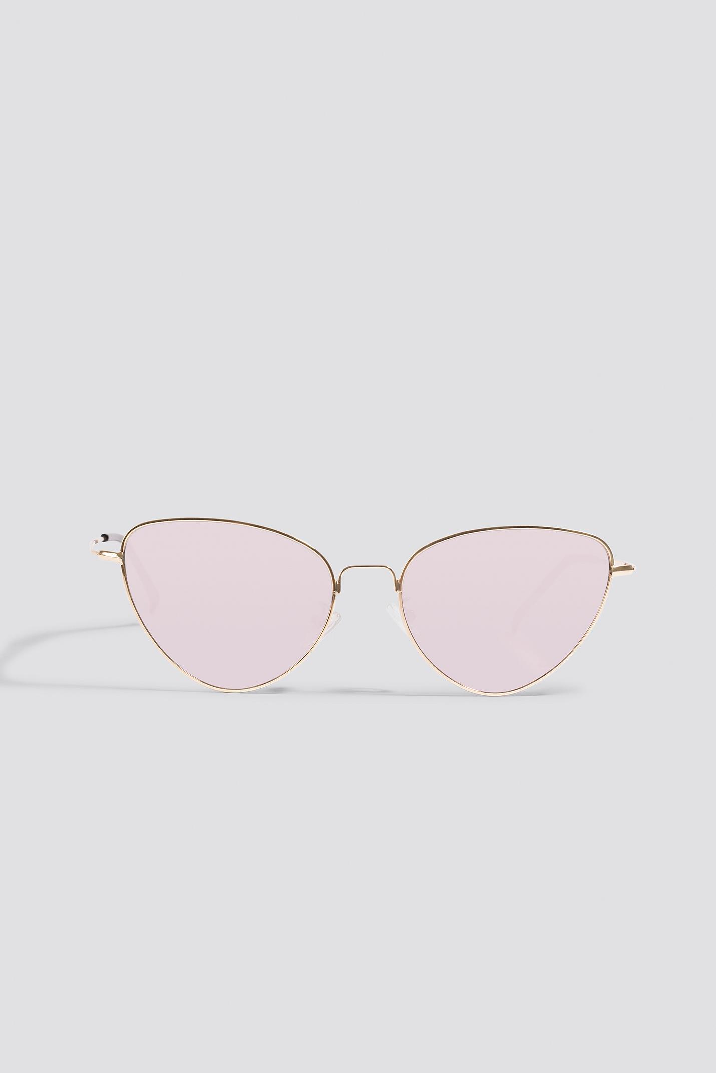 NA-KD Metal Frame Cat Eye Sunglasses in Purple