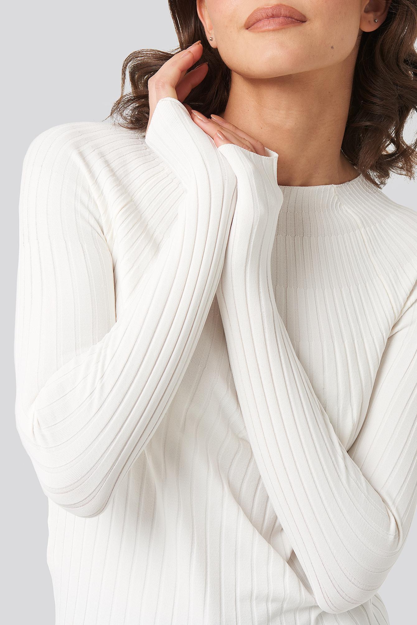 Apple Sweater Synthétique Mango en coloris Neutre