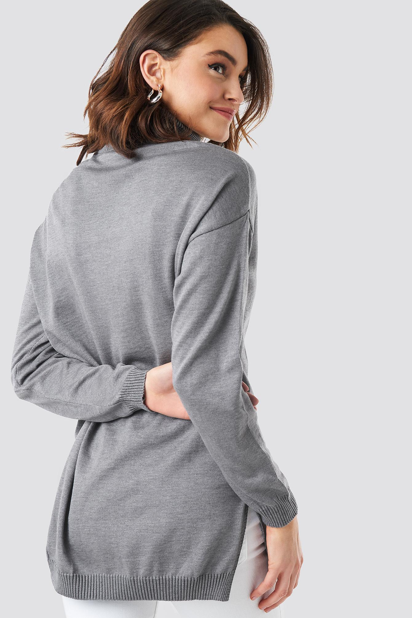 Ladies Womens Side Split Cowl Turtle Neck Top Polo Slit Swing Stretch Mini Dress