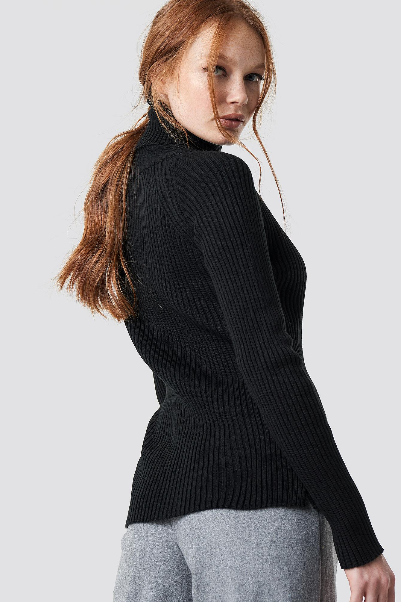ab8127abb2cca5 Trendyol - Milla Turtleneck Knitted Sweater Black - Lyst. View fullscreen