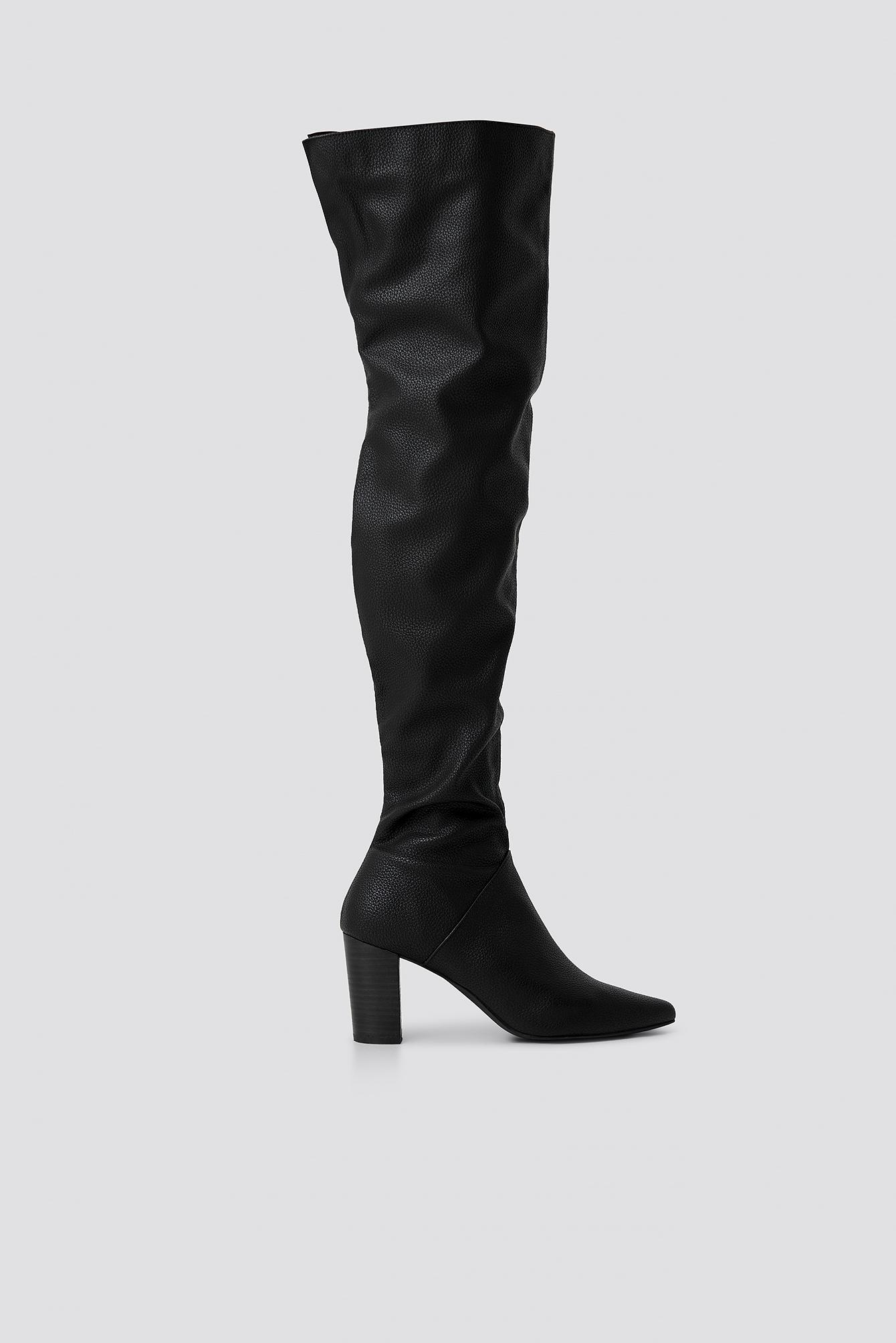 huge selection of cfd1d 64631 NA-KD - Classic Overknee Boots Black - Lyst. View fullscreen