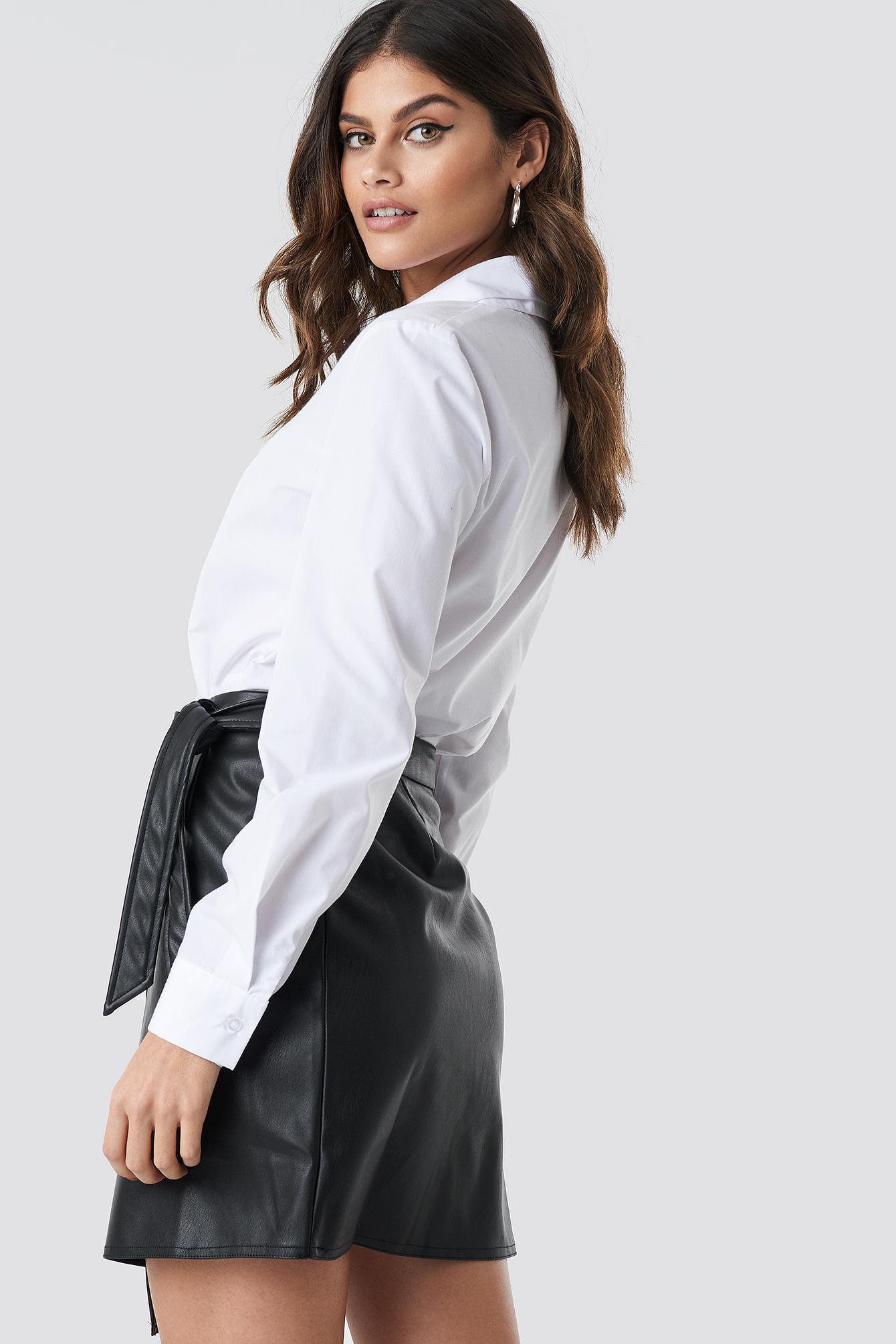 22606117f NA-KD Wrap Tie Mini Skirt Black in Black - Lyst