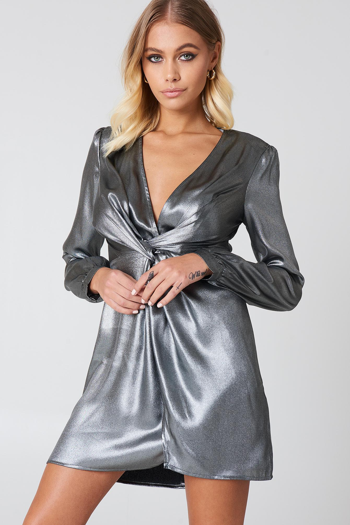180d5431038 Lyst - Astr Dominique Dress in Gray