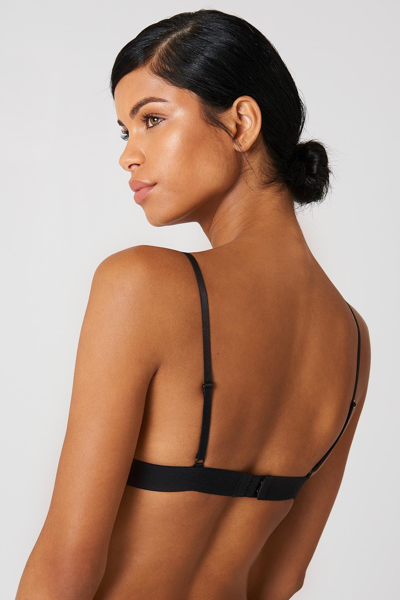 Lyst - Na-Kd Lace Choker Bra in Black