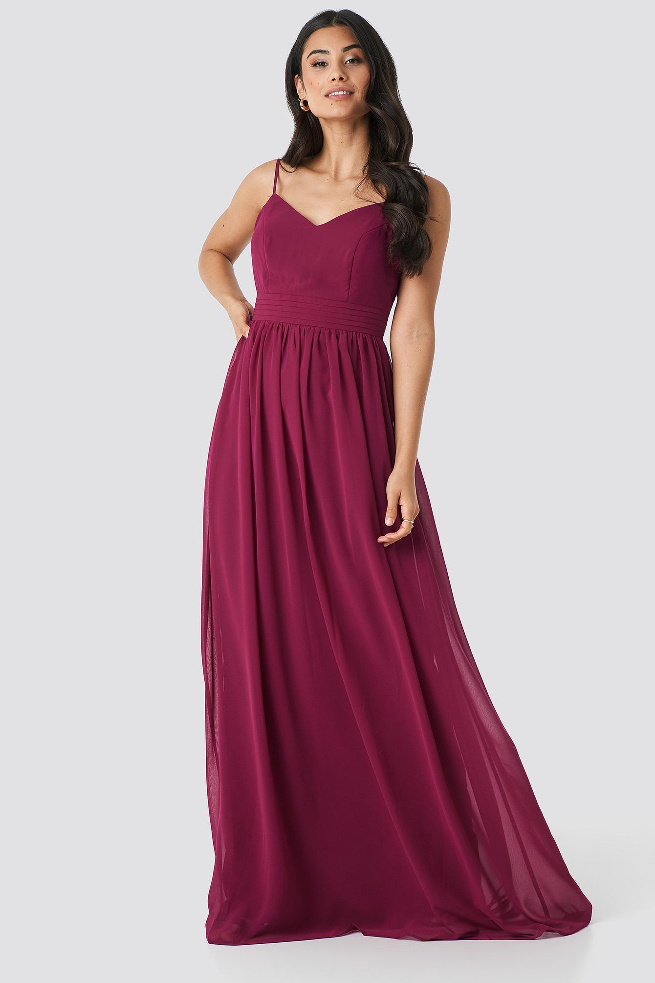 9b3955ca199f9 Trendyol Back Detailed Evening Dress Purple