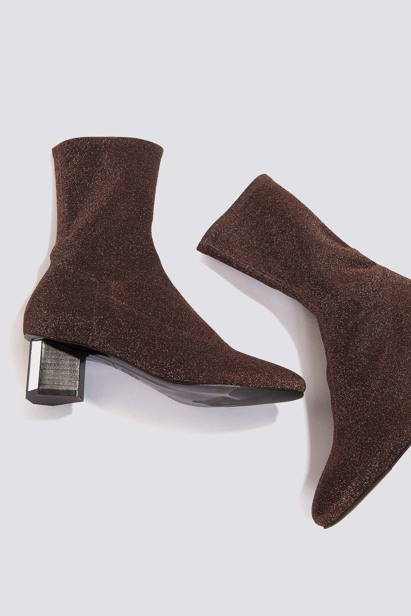 By Malene Birger Leather Santanas Boots Copper in Brown