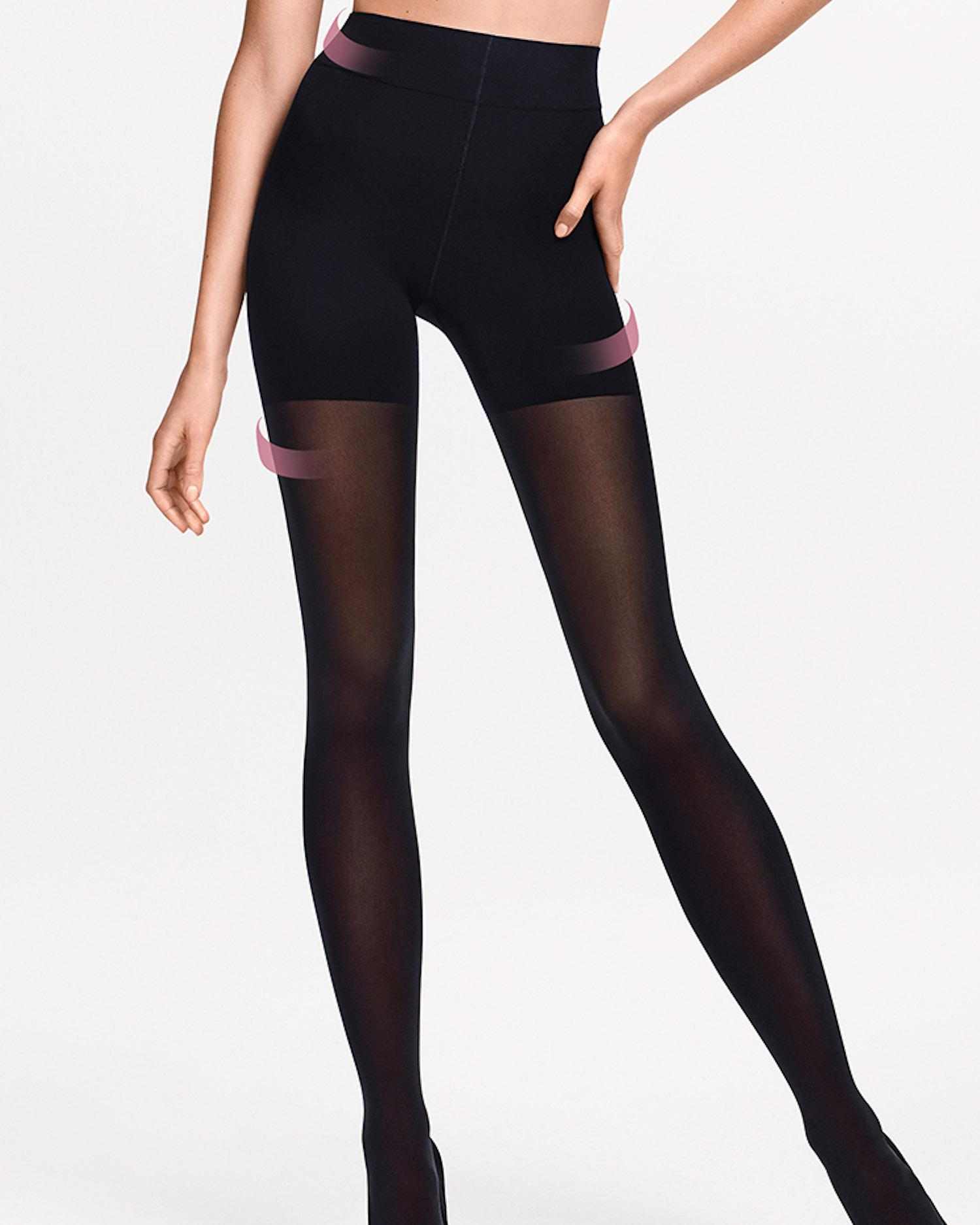 e4e3aa96f0d Wolford Tummy 66 Control Top Tights in Black - Lyst
