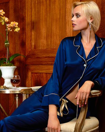 Maison De Papillon Silk Mitch Didi Pajama In Blue Lyst