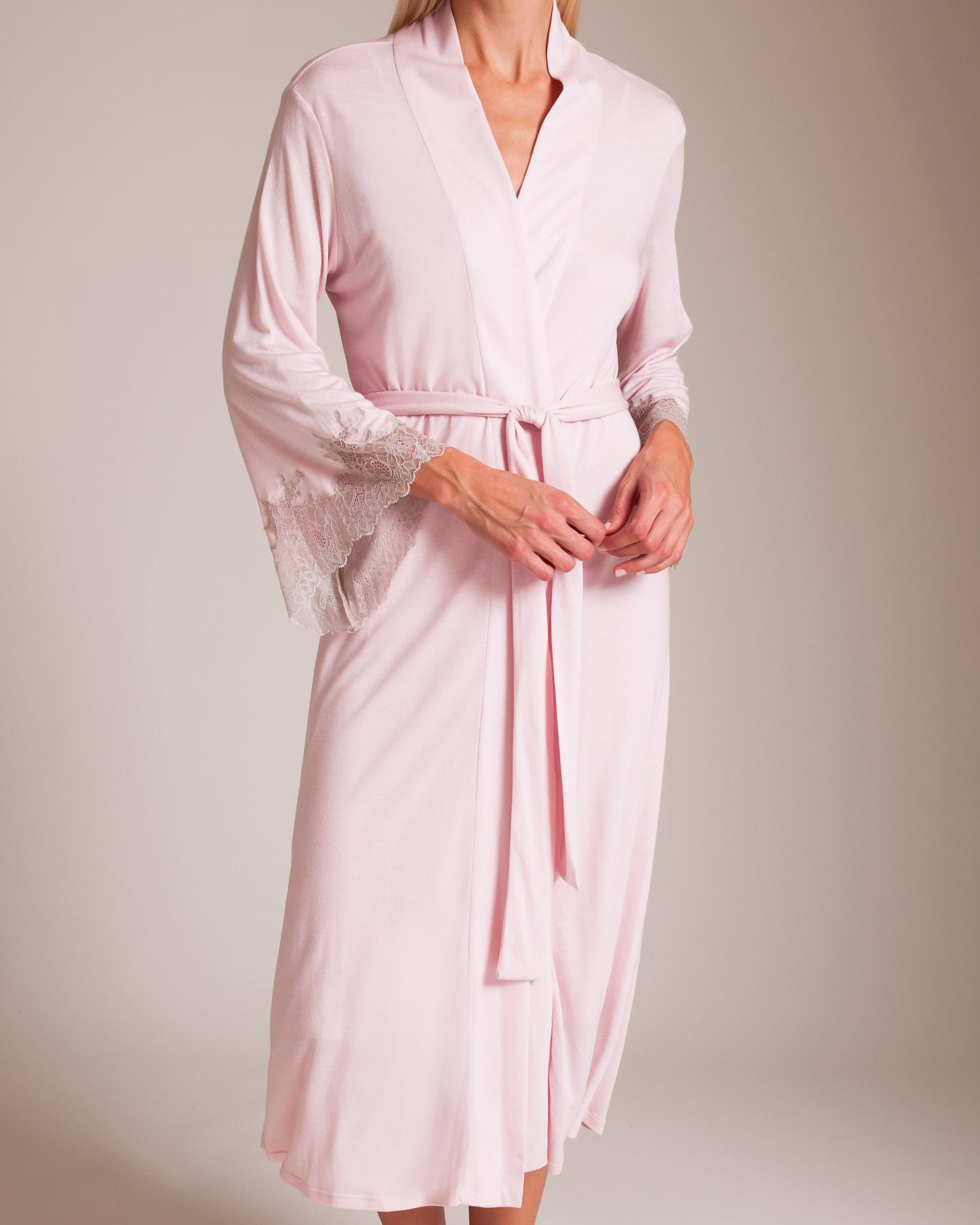 2257110c6c Natori Luxe Shangri-la Robe in Pink - Save 5.303030303030297% - Lyst