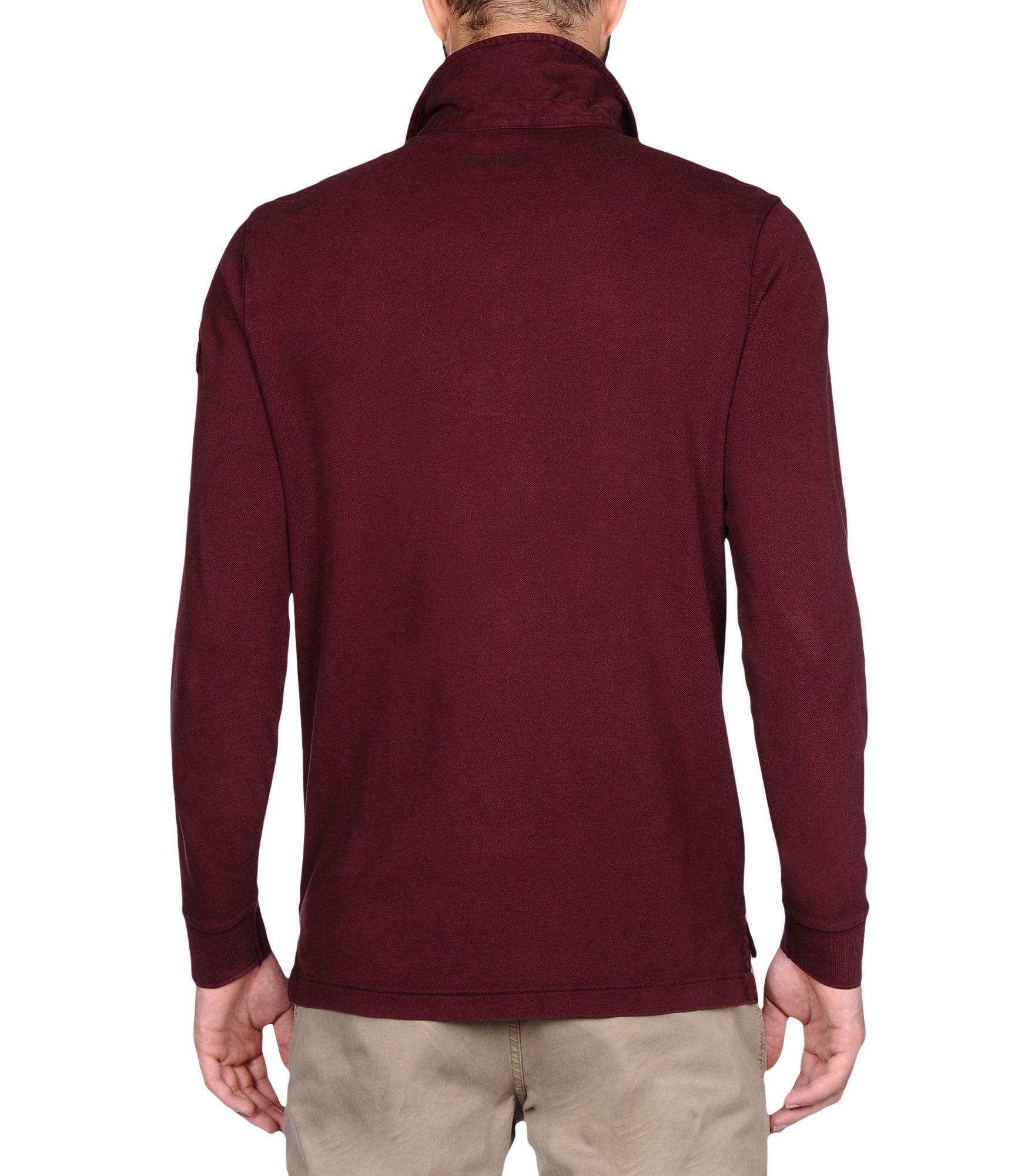 Napapijri long sleeve polo in purple for men lyst for Long sleeve purple polo shirt