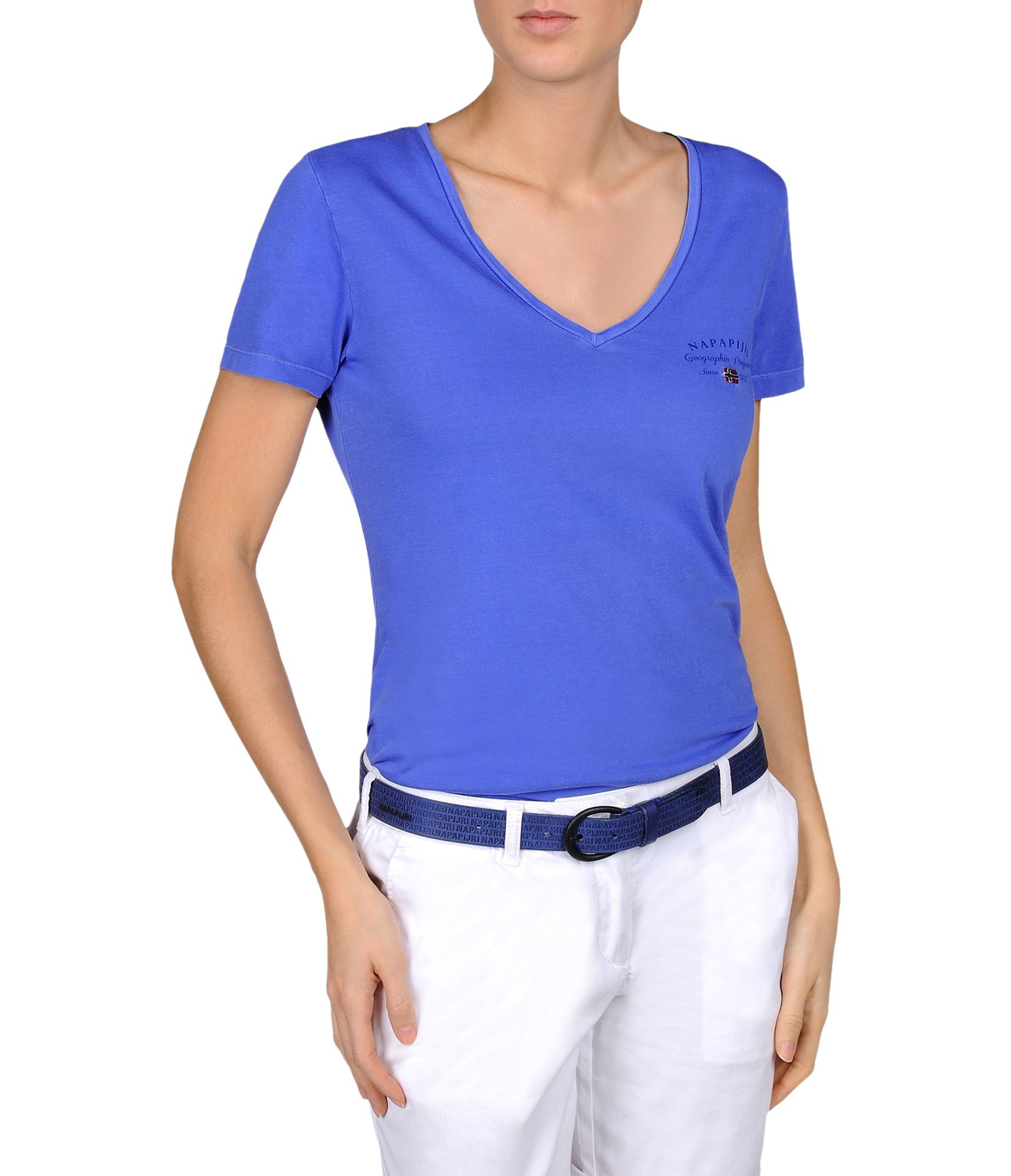 napapijri short sleeve t shirt in blue lyst. Black Bedroom Furniture Sets. Home Design Ideas