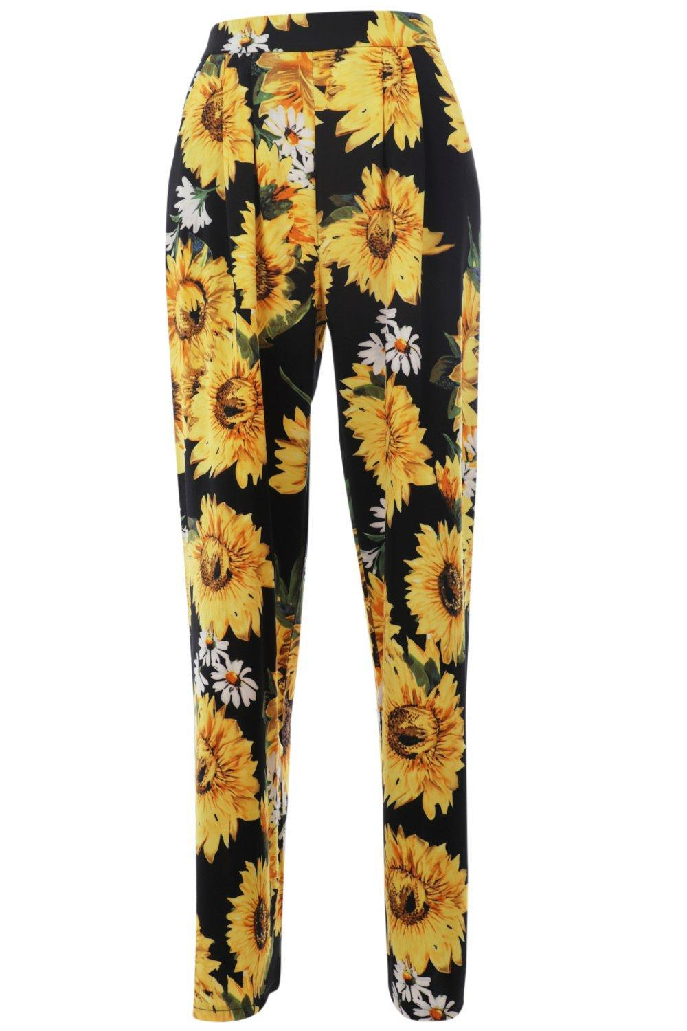 lyst nasty gal get some sunflower floral pants in yellow