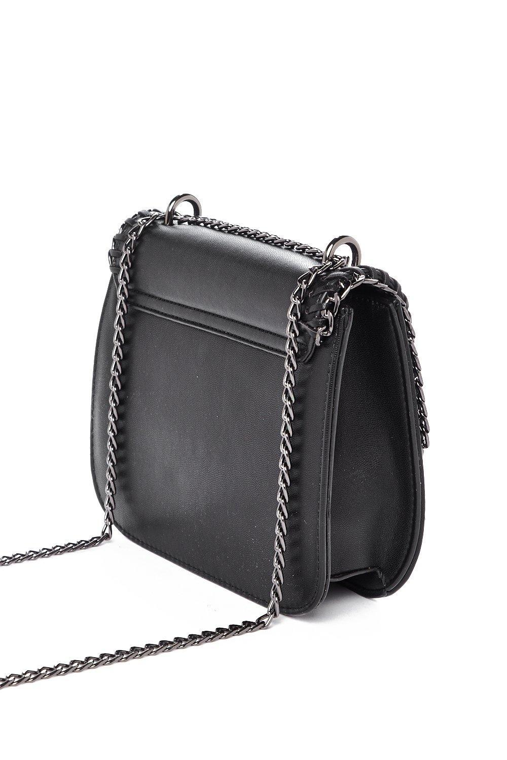Nasty Gal Want Chain And Simple Crossbody Bag in Black