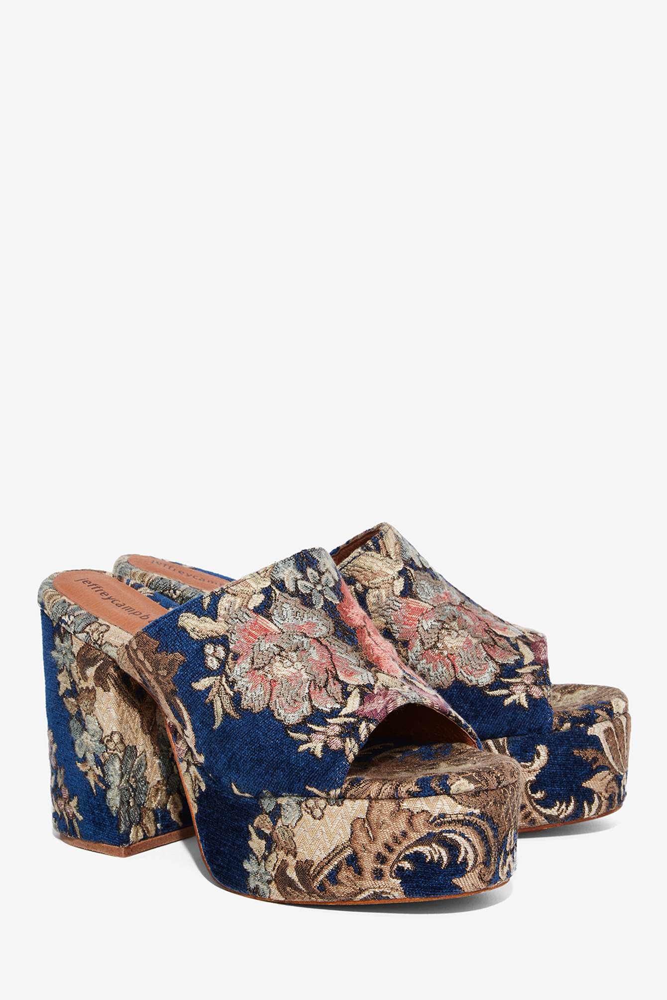 Jeffrey Campbell Pilar Tapestry Mule In Blue Lyst