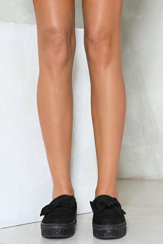 Nasty Gal Get Slippy Hun Velvet Sneaker in Black
