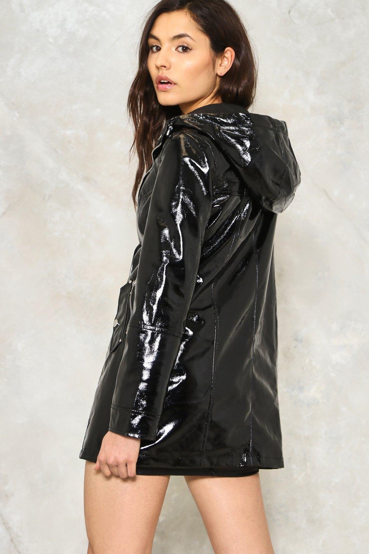Nasty Gal Make It Rain Vinyl Raincoat in Black - Lyst