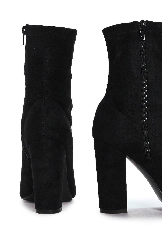 Nasty Gal Suede Vanessa Open-toe Boots Vanessa Open-toe Boots in Black